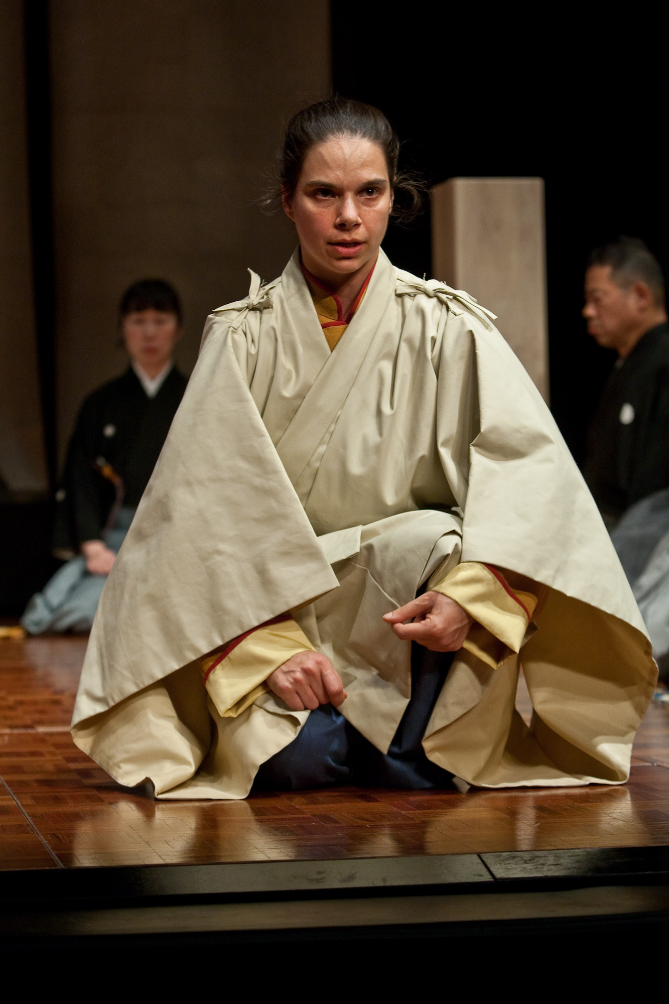 Jubilith Moore - Performing the role of The Traveller (Waki) in Pagoda in 2009, Southbank Centre, London; then Dublin, Oxford & Paris. Also, in 2011 at the National Noh Theatre, Tokyo, Kongoh Theatre, Kyoto, the National Centre of the Performing Arts, Beijing and the Hong Kong Academy of the Performing Arts, Hong Kong.