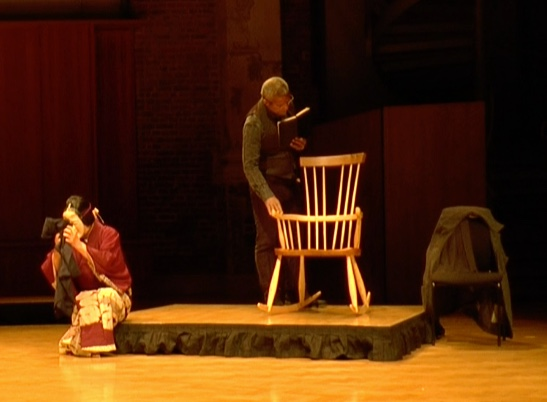 Rockaby by Samuel Beckett, performed by Akira Matsui and Hugh Quarshie at LSO St Luke's, London. 25 February 2017