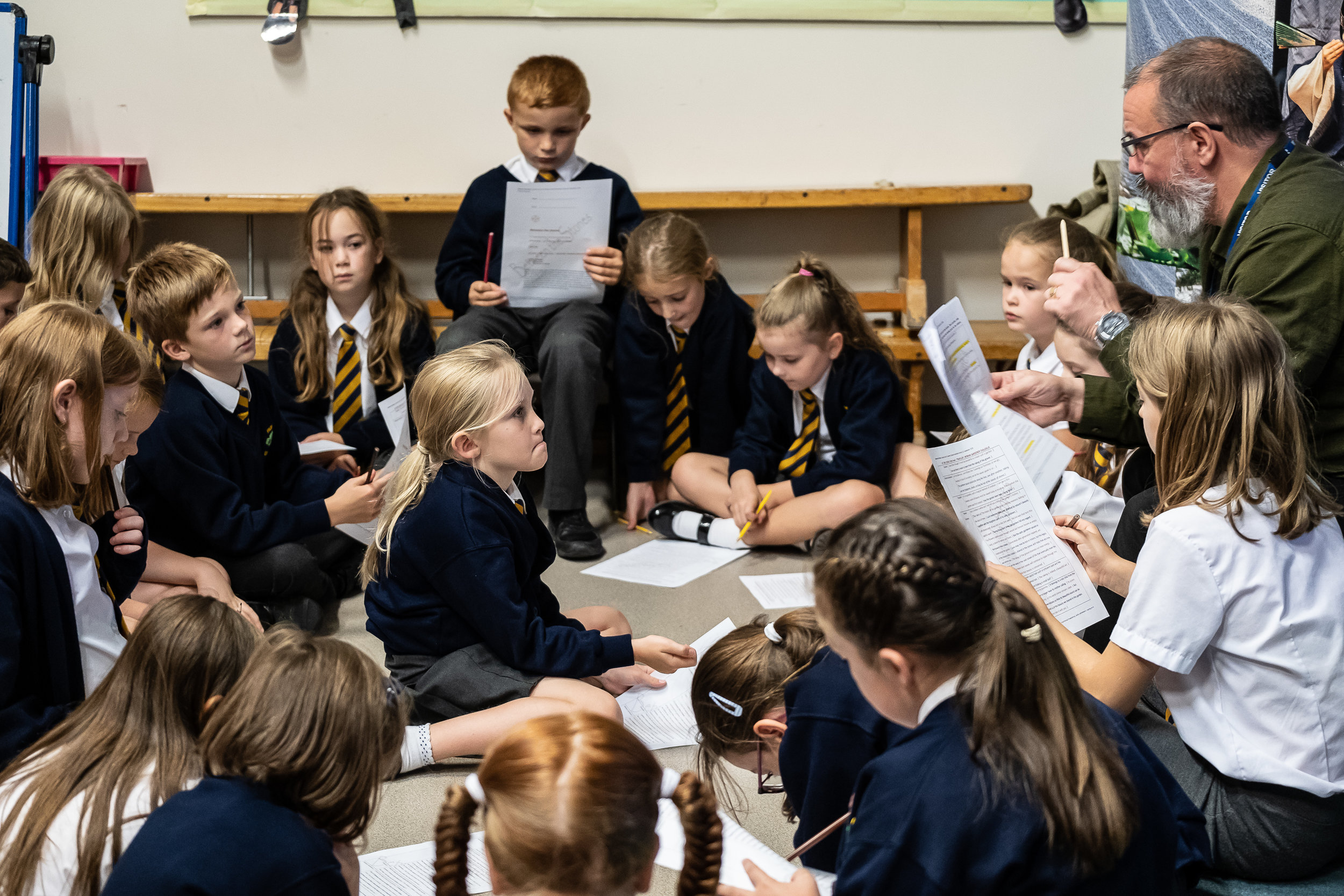 The children read and role-played a scene from  'Between the Stones'…   Photography by Clive Barda