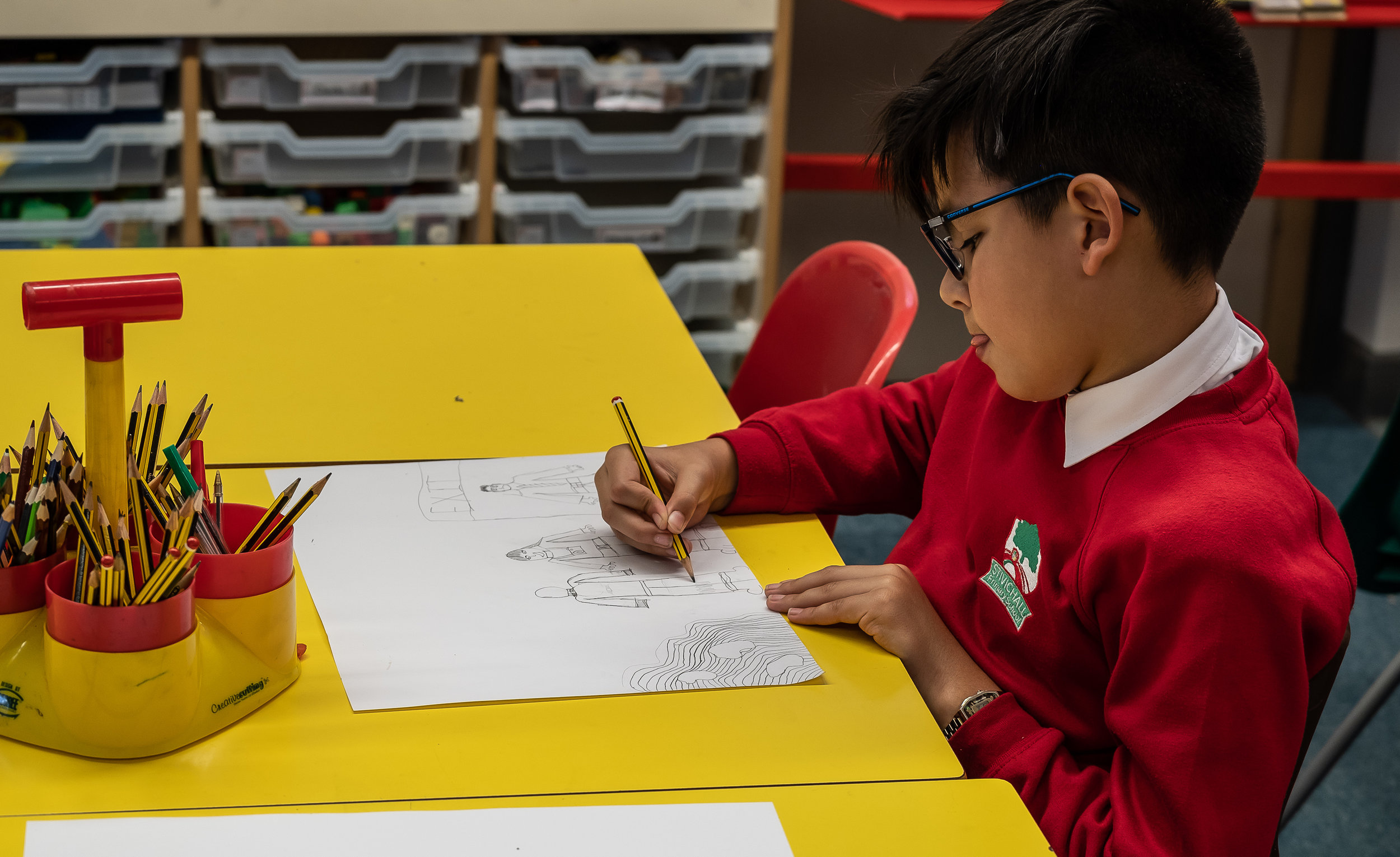 It was lovely to see the  karesansui  garden in this child's drawing. Photography by Clive Barda
