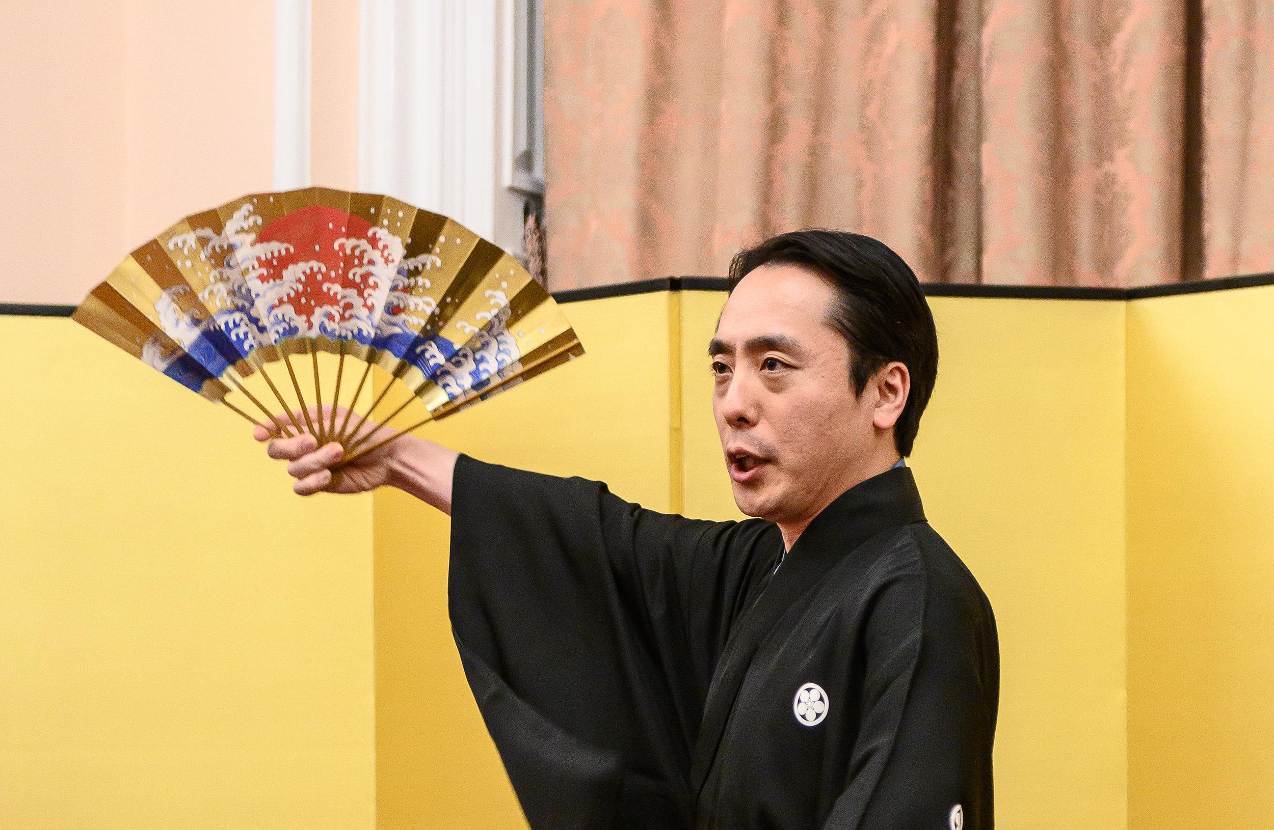 Teruhisa Oshima dances a short dance