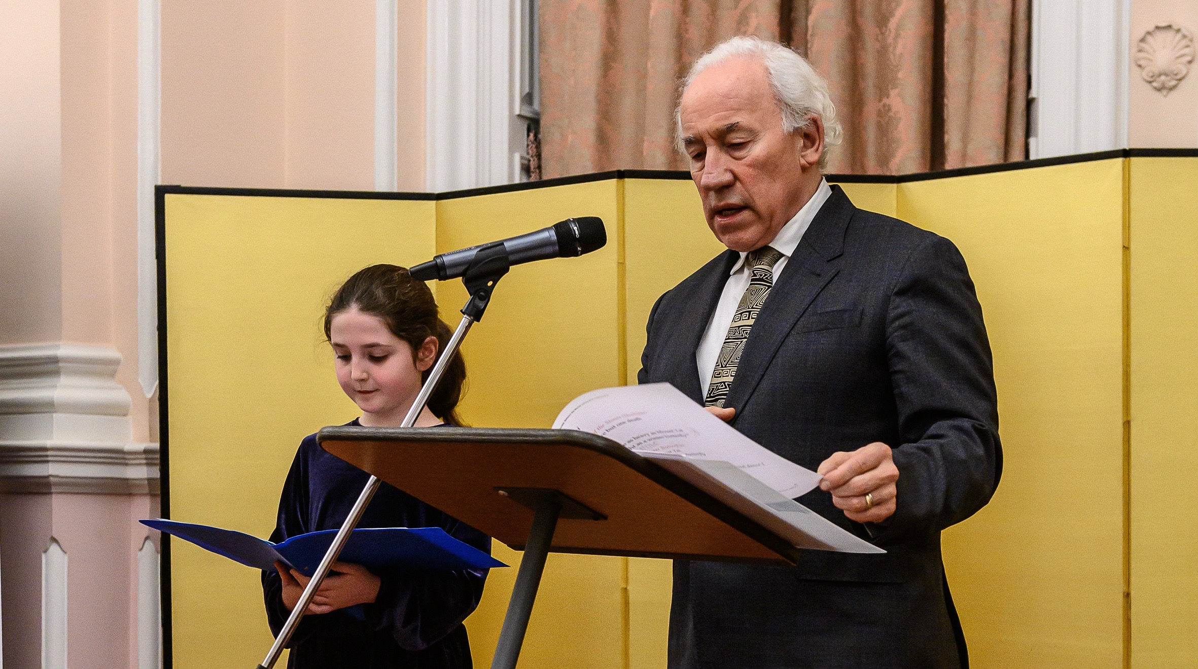 Simon Callow and Clementine Laikin