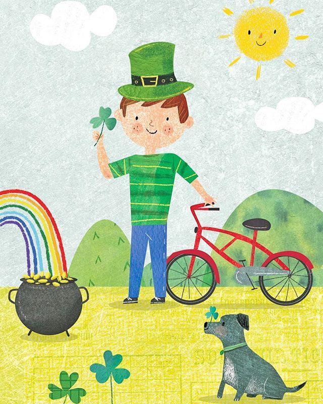 Top of the morning to you! #artistsoninstagram #kidslitart #illustration #stpatricksday #painting #ireland #chrislylesdesigns