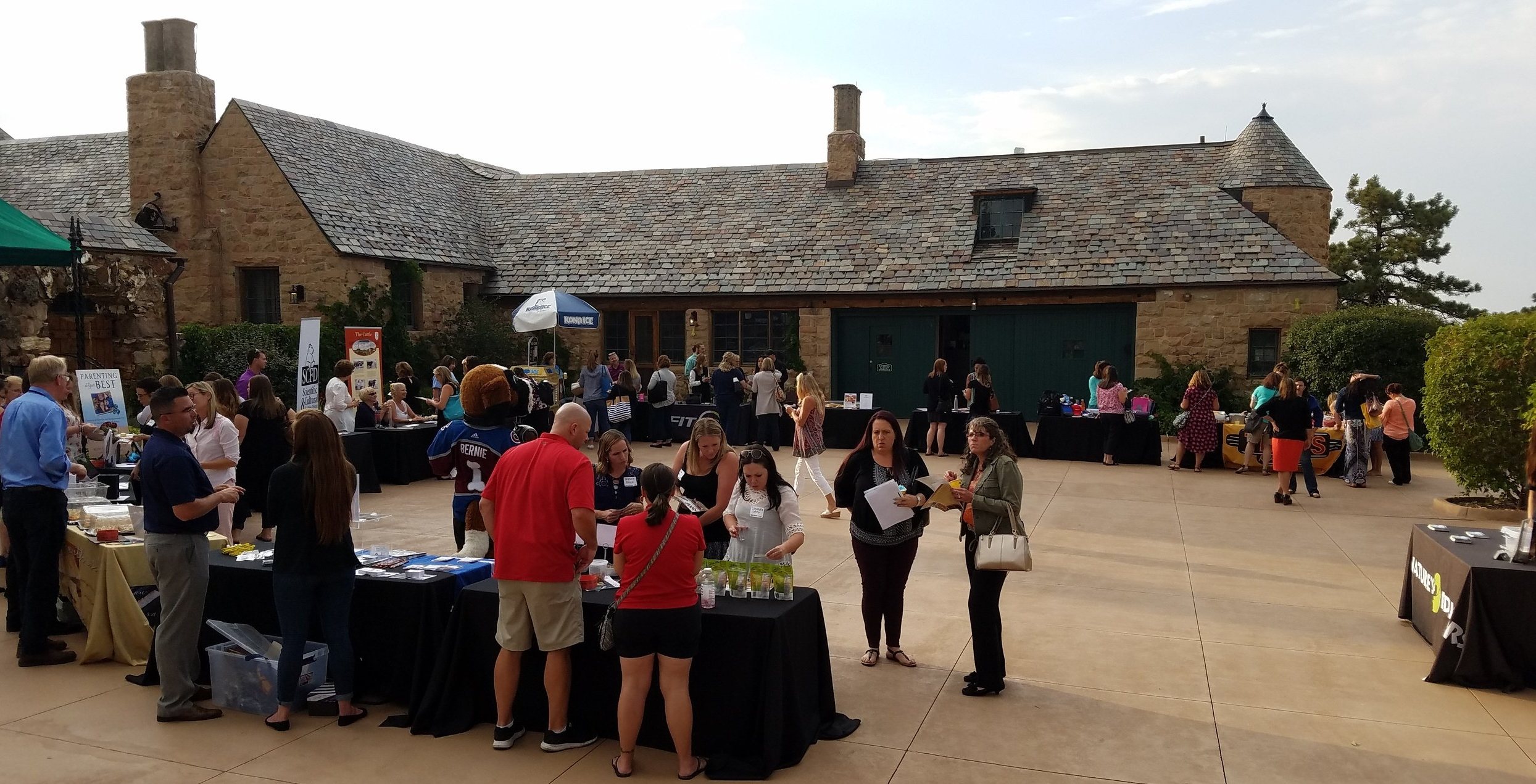 Some of the Foundation's Preferred Partners during the vendor fair at the 2017 Back to School Chapter Meeting at Cherokee Castle in Sedalia