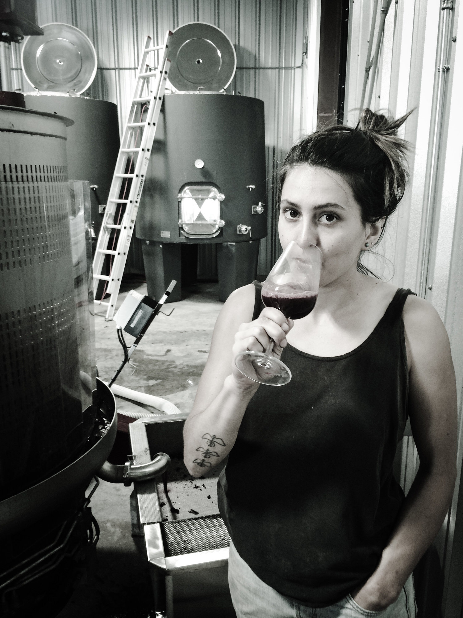 ADRIENNE BALLOU, 12.14.18 - Adrienne Ballou is a rockstar in the Texas wine industry. She produced her first solo wine this year, a 100% Texas Mourvedre bottled under the label Lightsome Wine. A graduate of UC Davis, Adrienne has worked in cellars in France, Washington, and Australia, and is now assistant winemaker for Calais winery.