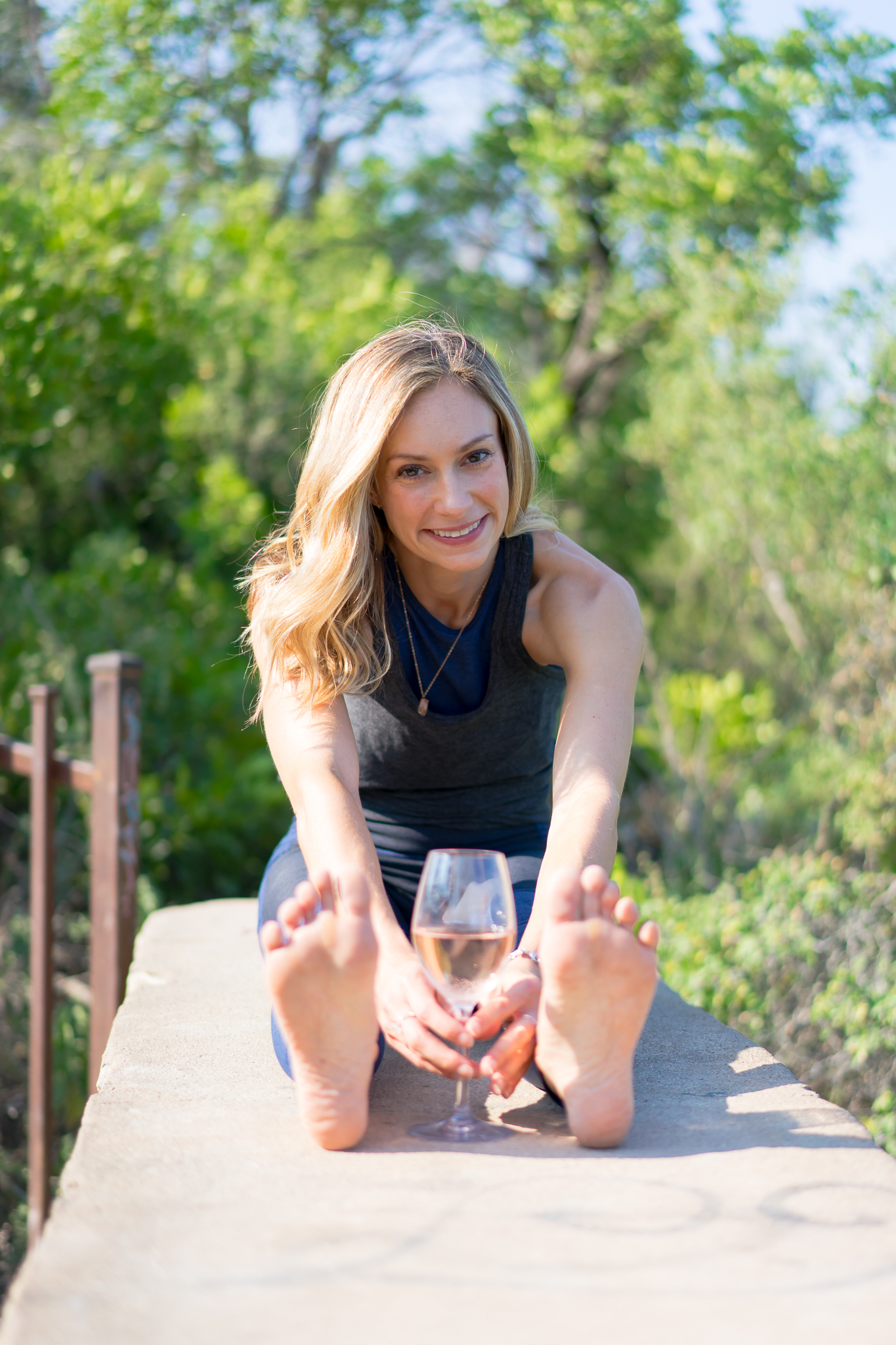 MORGAN PERRY, 4.5.19 - Morgan Perry is the founder of Vino Vinyasa Yoga, yoga classes that bring together vinyasa-based yoga and fun wine facts through creative yoga poses, currently offered in New York City and Austin, Texas.