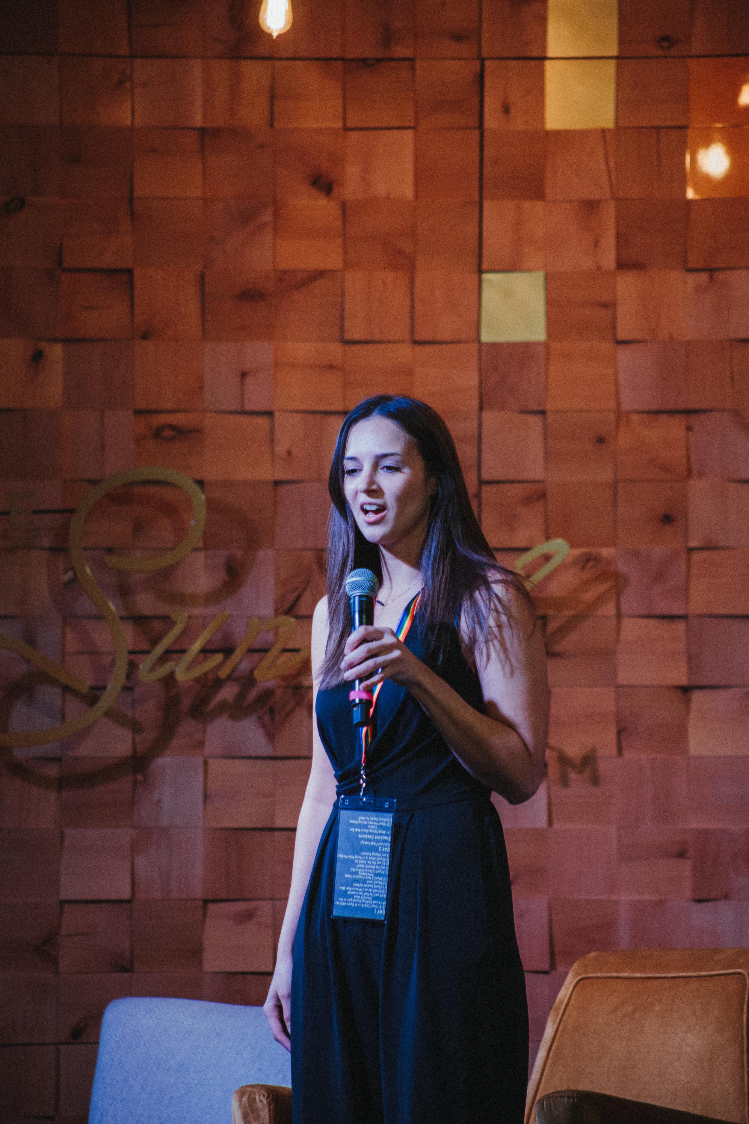 Founder, Rania Zayyat, giving opening speech