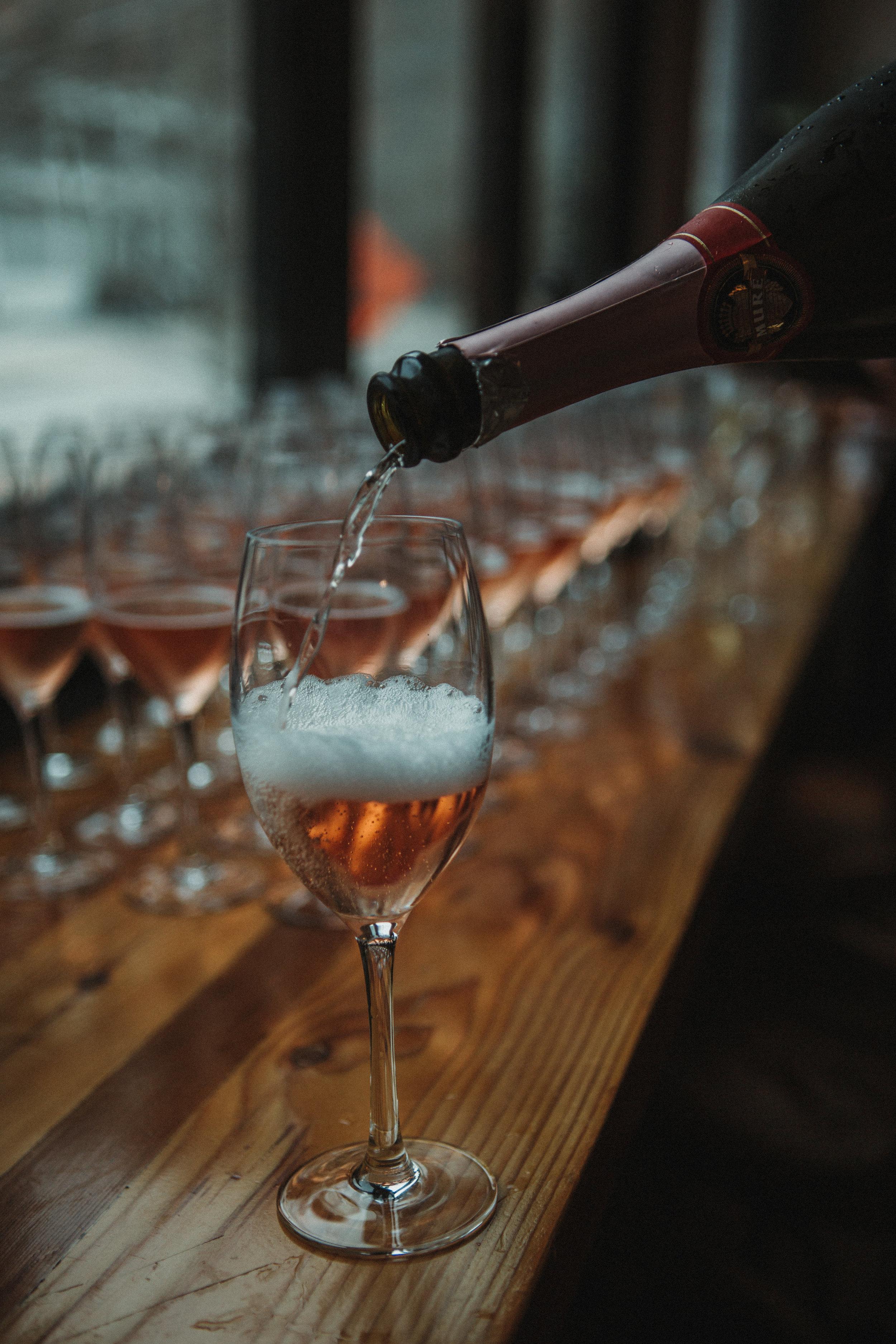 Sparkling Wine break donated by Twin Liquors, WWOW 2019 Sponsor