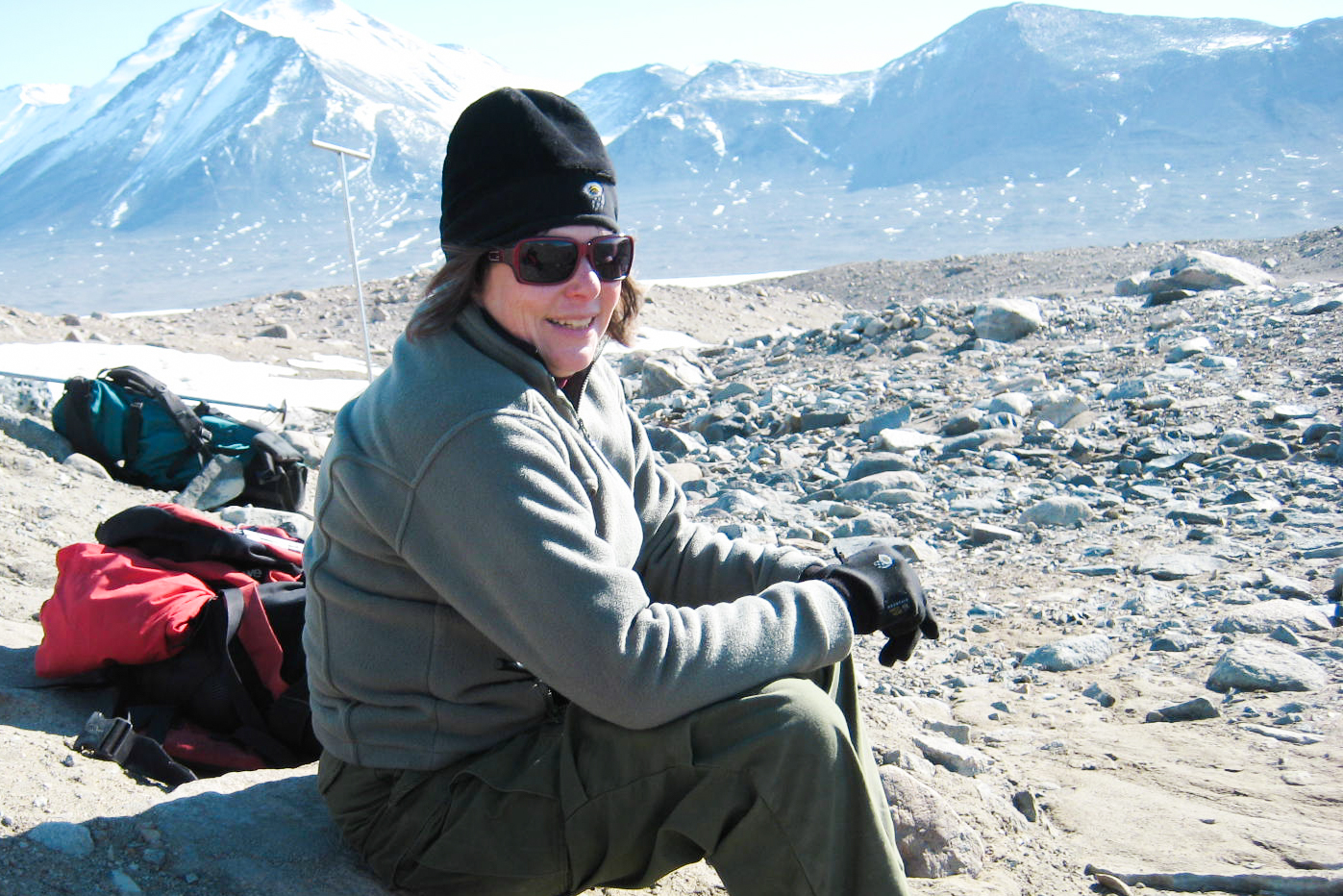 Founding member of the McMurdo Dry Valleys LTER, Diane McKnight in the field. Photo courtesy Diane McKnight