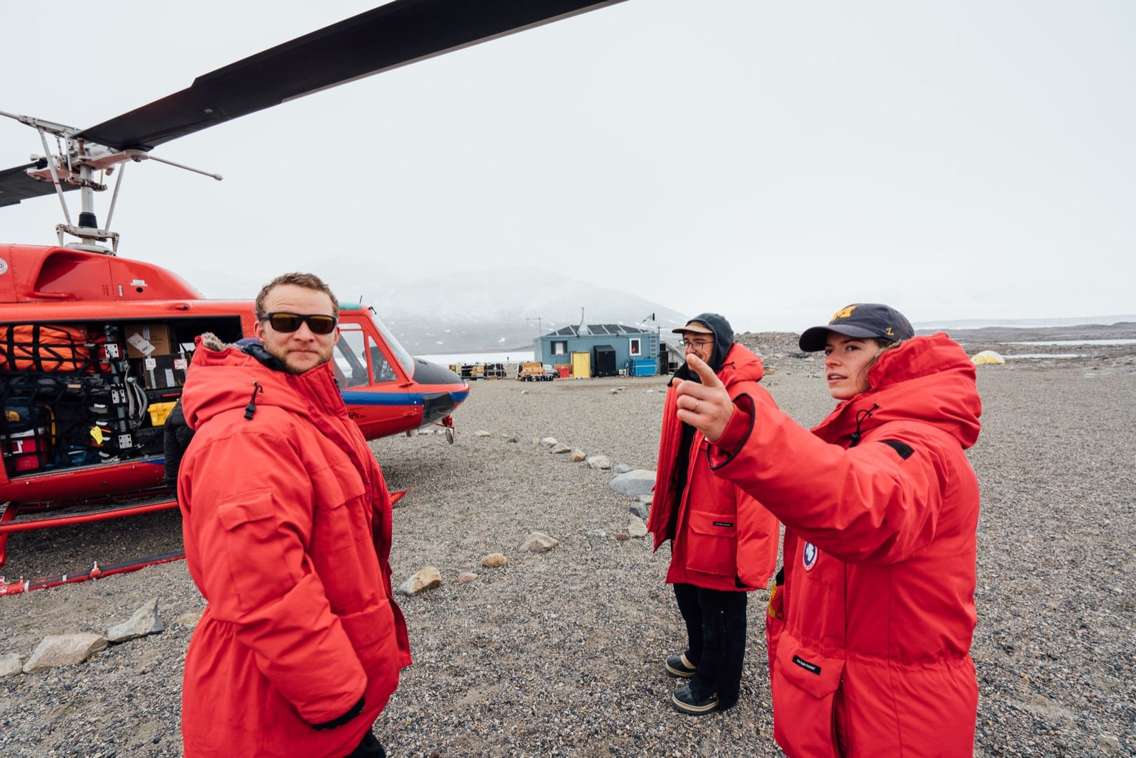 Field technicians wait for a load to be secured before departing to McMurdo Station. Photo by Ariel Zych