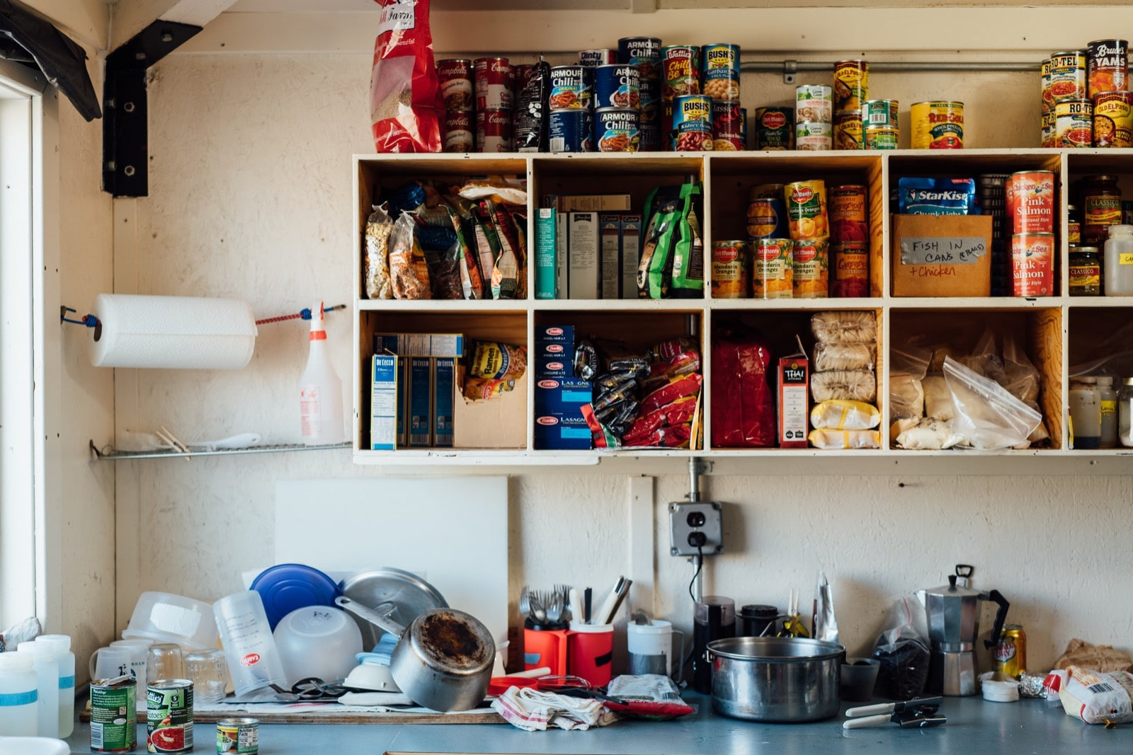 The kitchen at the F6 hut. Photo by Ariel Zych