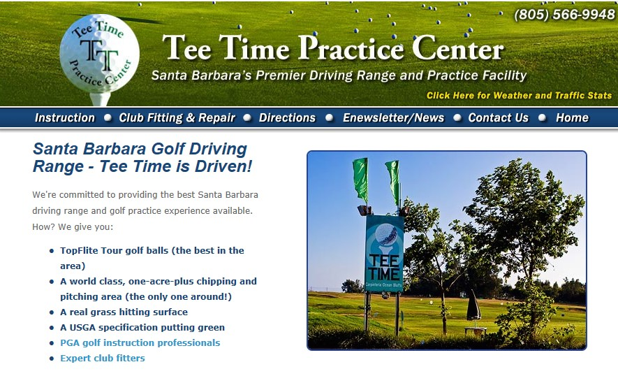 Tee Time - Santa Barbara's Premier Driving Range and Practice Facility