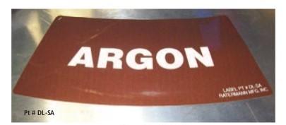 dewar gas type labels