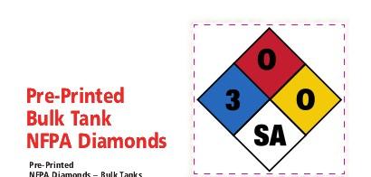 bulk tank nfpa diamond labels