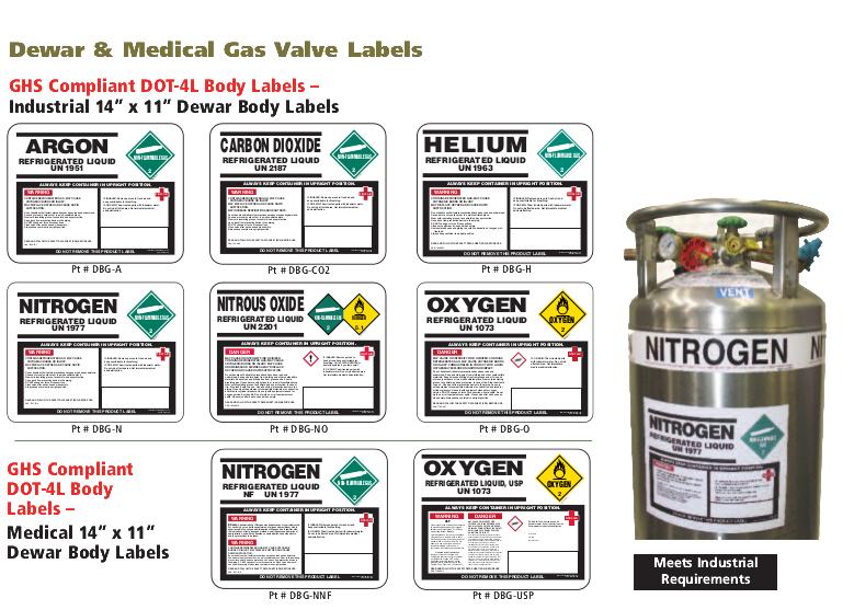 medical dewar labeling