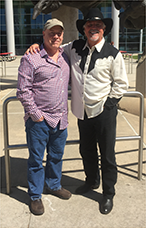 "Eddie & ""Cliff"" at the 2016 Houston Livestock Show & Rodeo. -"