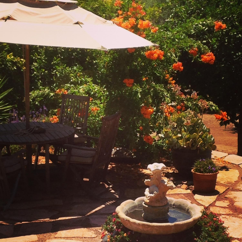 Main patio and fountain