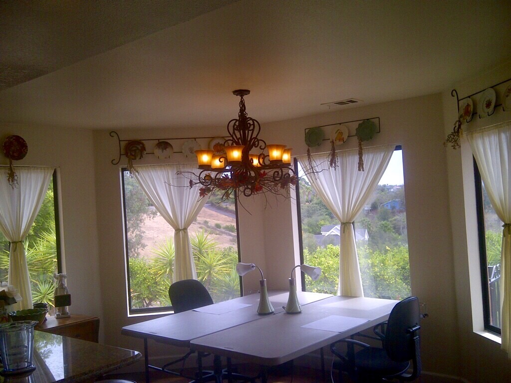 2 tables in place of the dining table