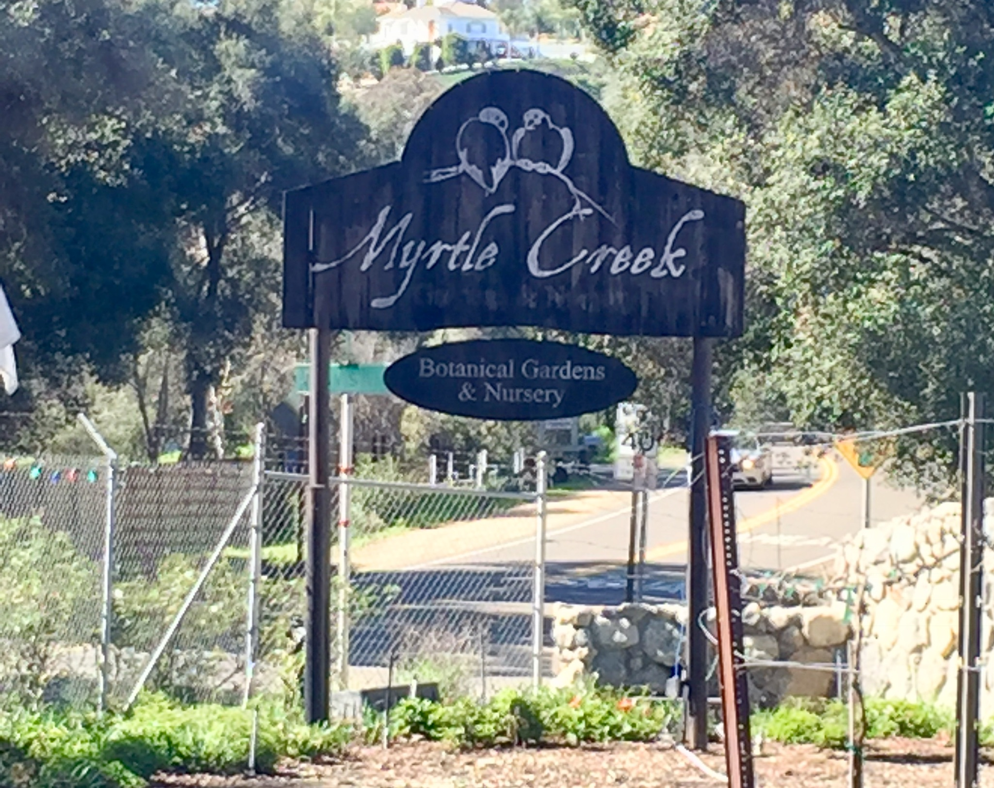 You are almost there, slow down when you see Myrtle Creek Nursery and start looking to your right.