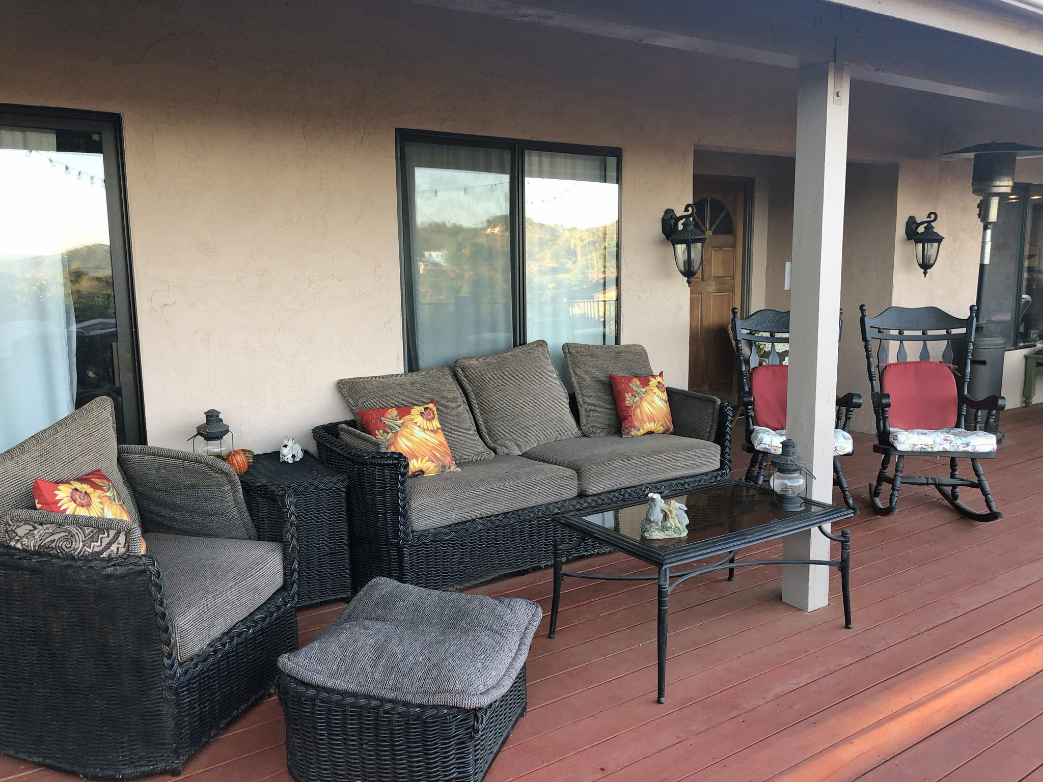 Rabbit Hill Ranch Couch Deck Seating Area