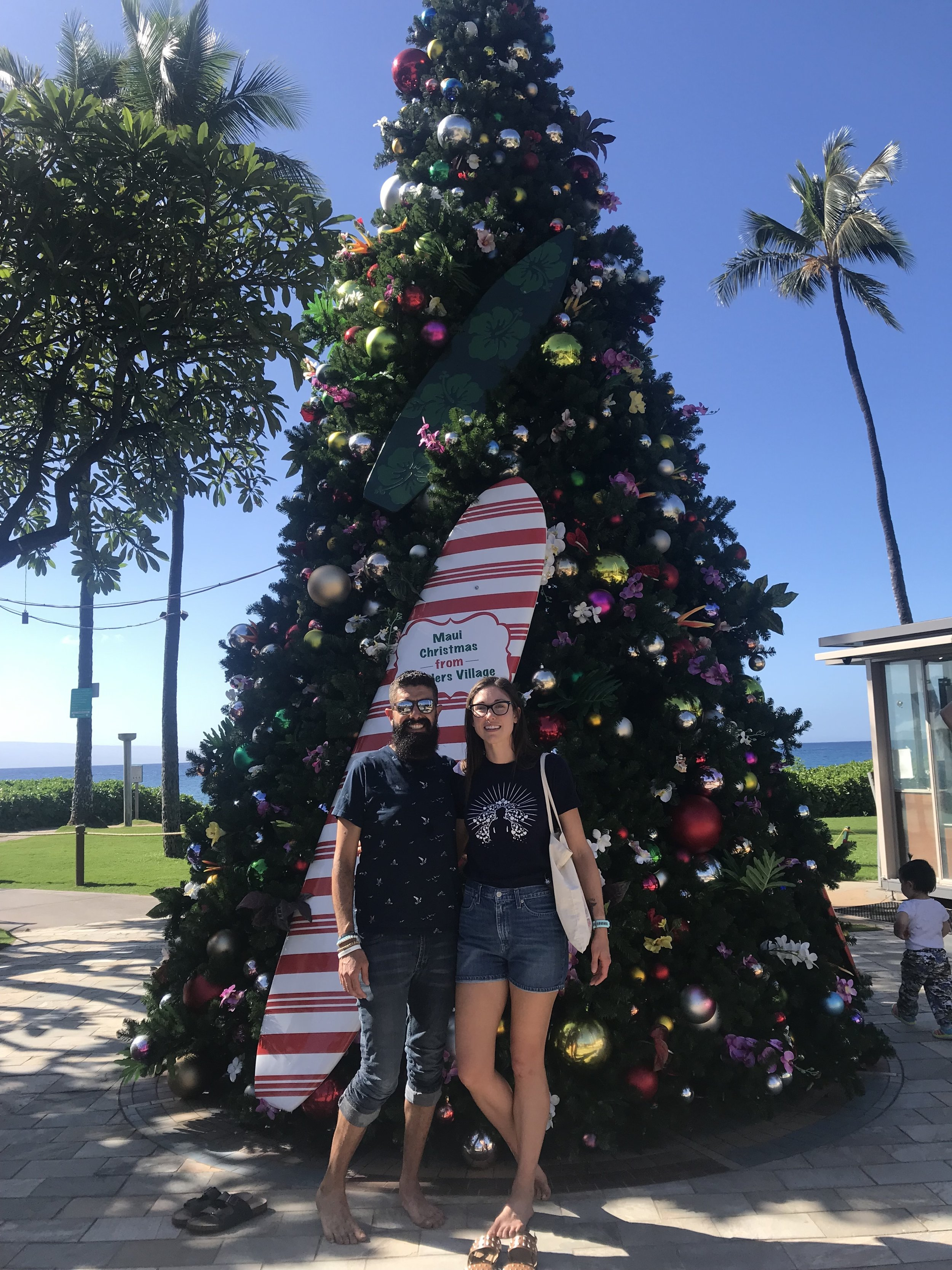 Christmas at the mall by the beach