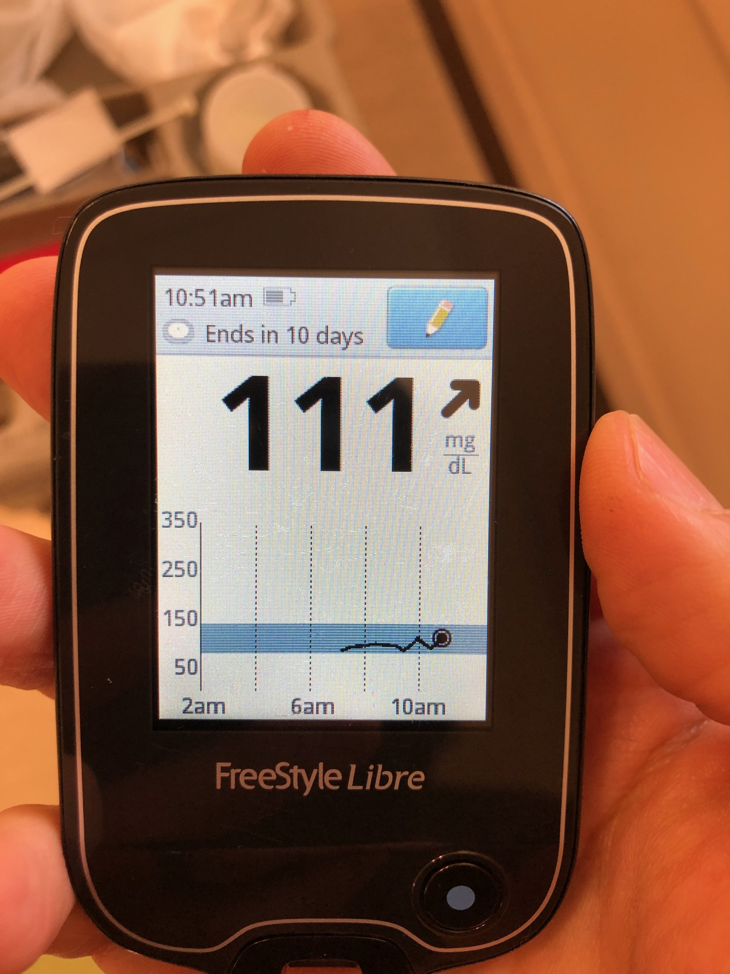 Using the Abbott Freestyle Libre reader