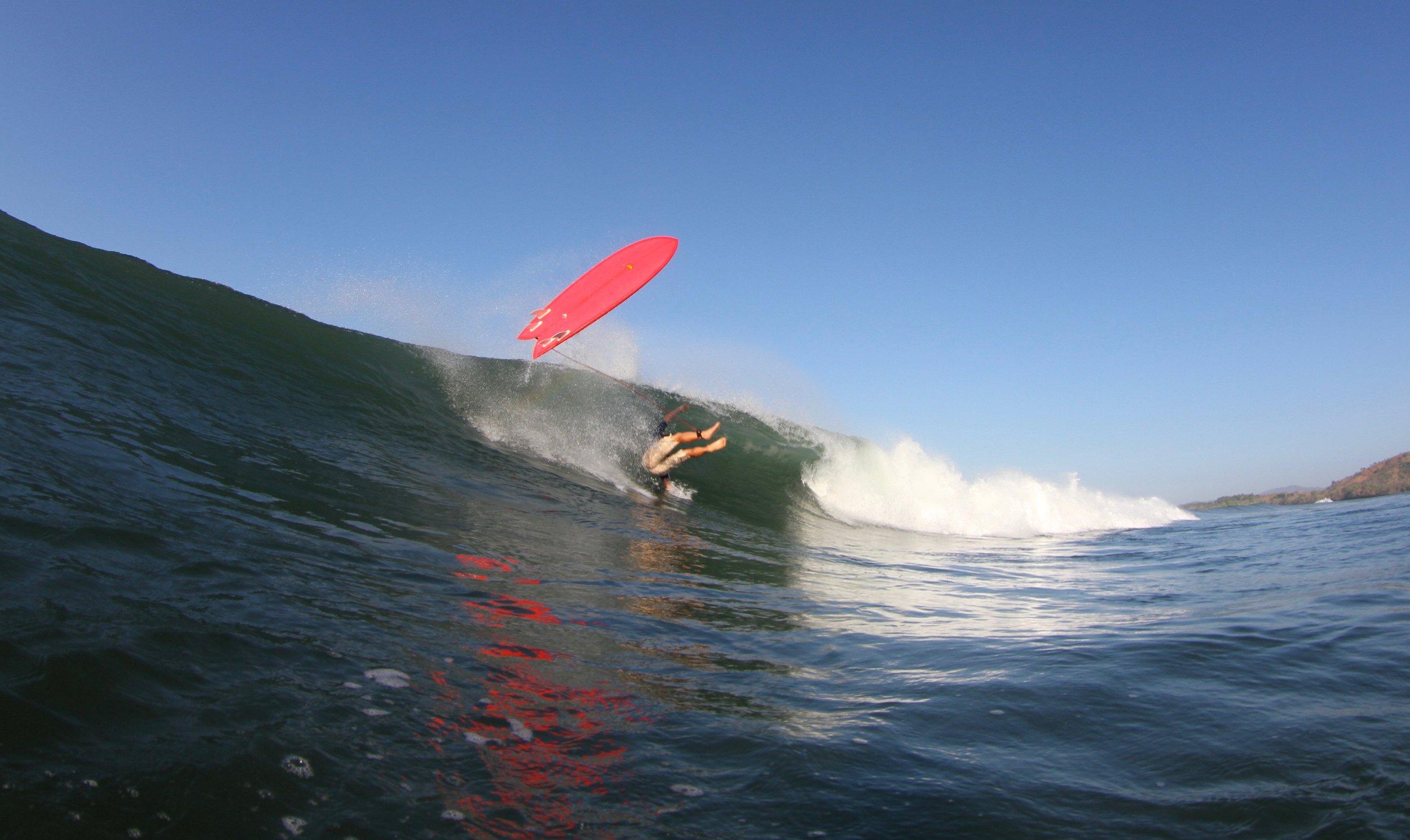 Surf Wipe Out Santa Catalina