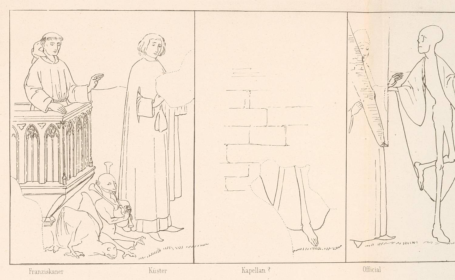 Sketch (detail) of the mural when it was first discovered