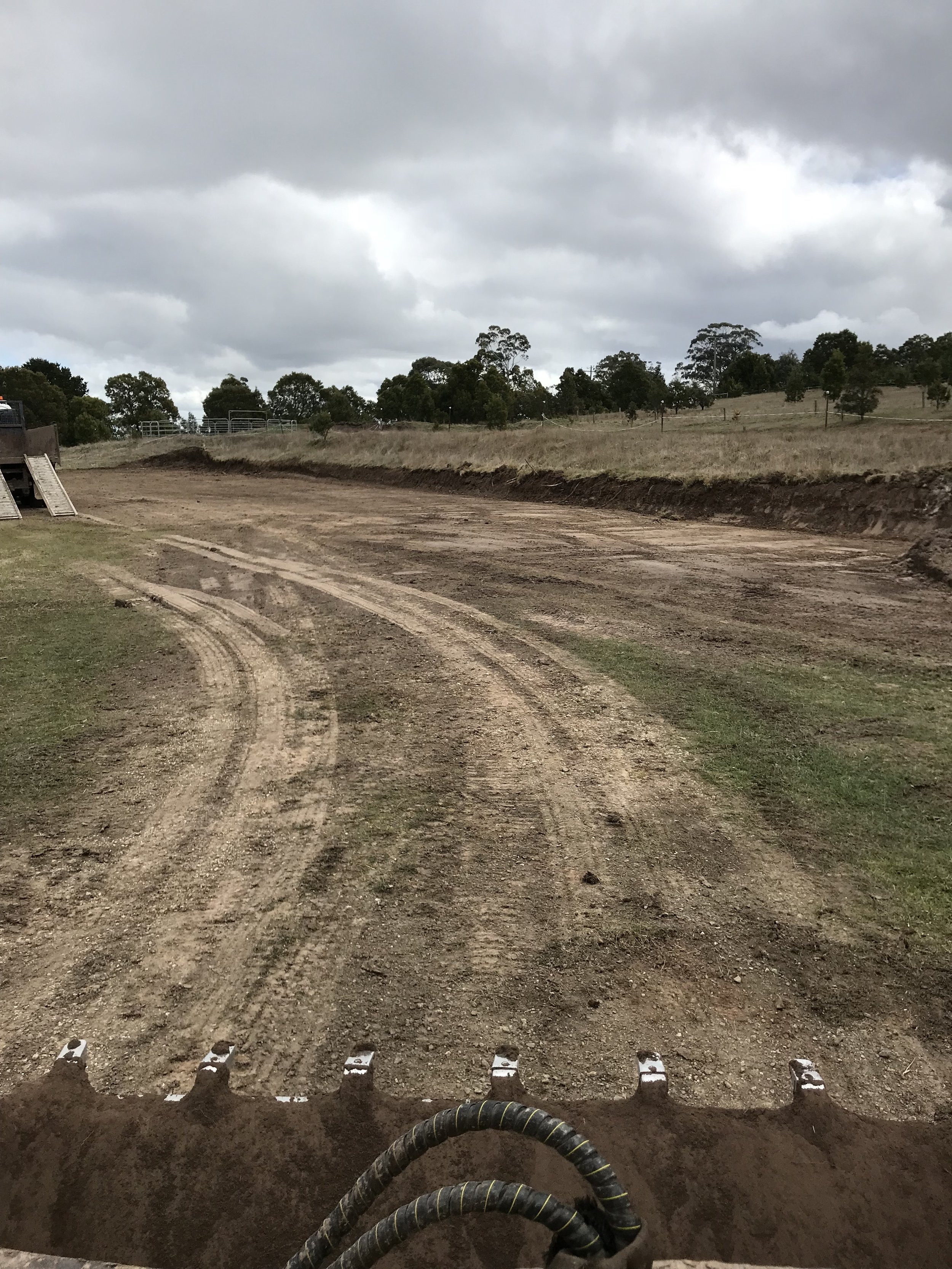 Large Site cut for garage