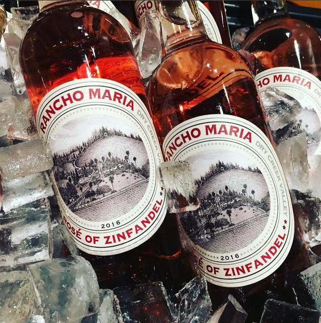 Rancho Maria's Famous Zinfandel Rosé.