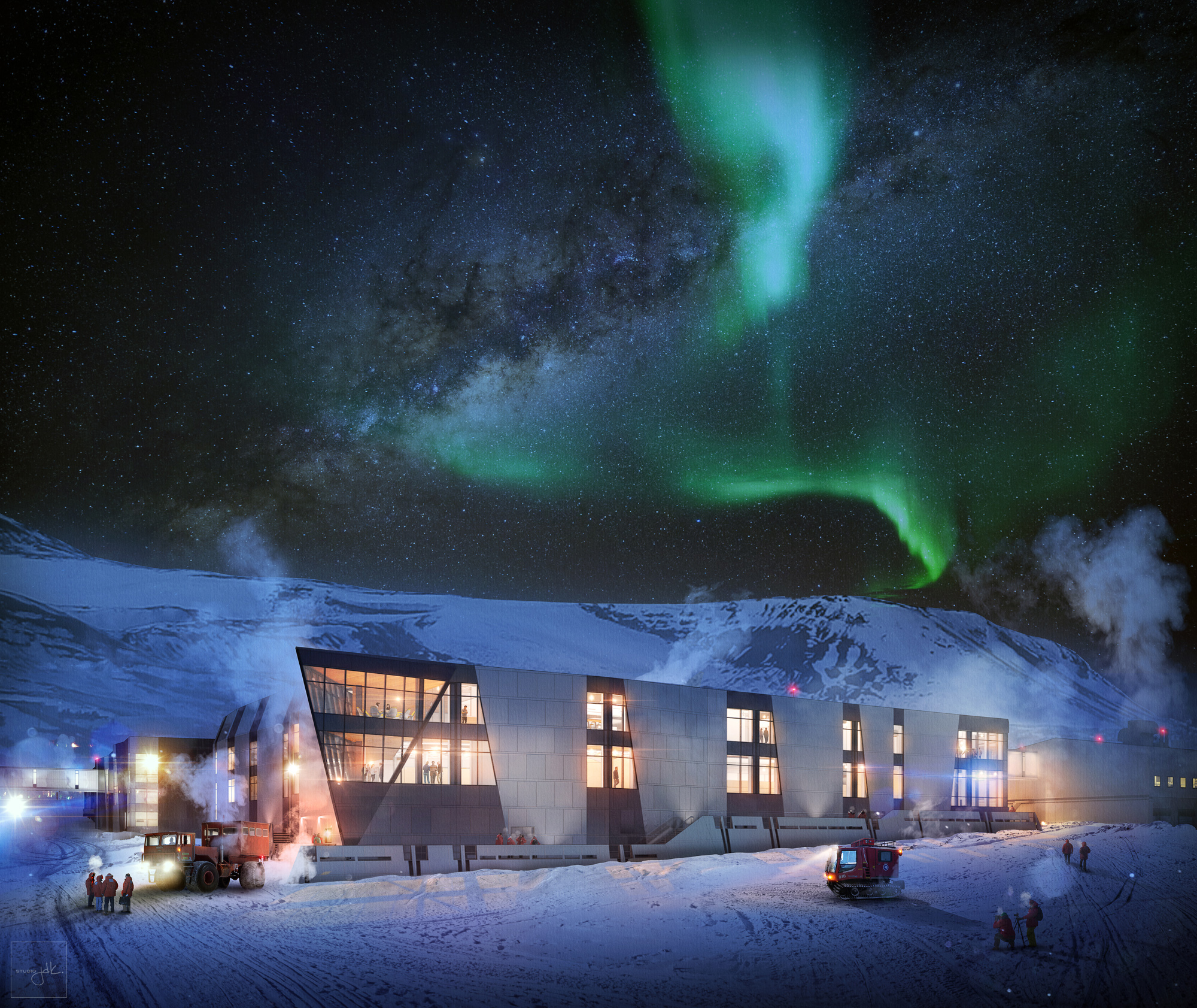 McMurdo Station, Antarctica. Oz Architects