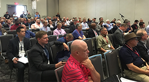 The audience listens to the cybersecurity panel. (Robert Braswell/TMC)