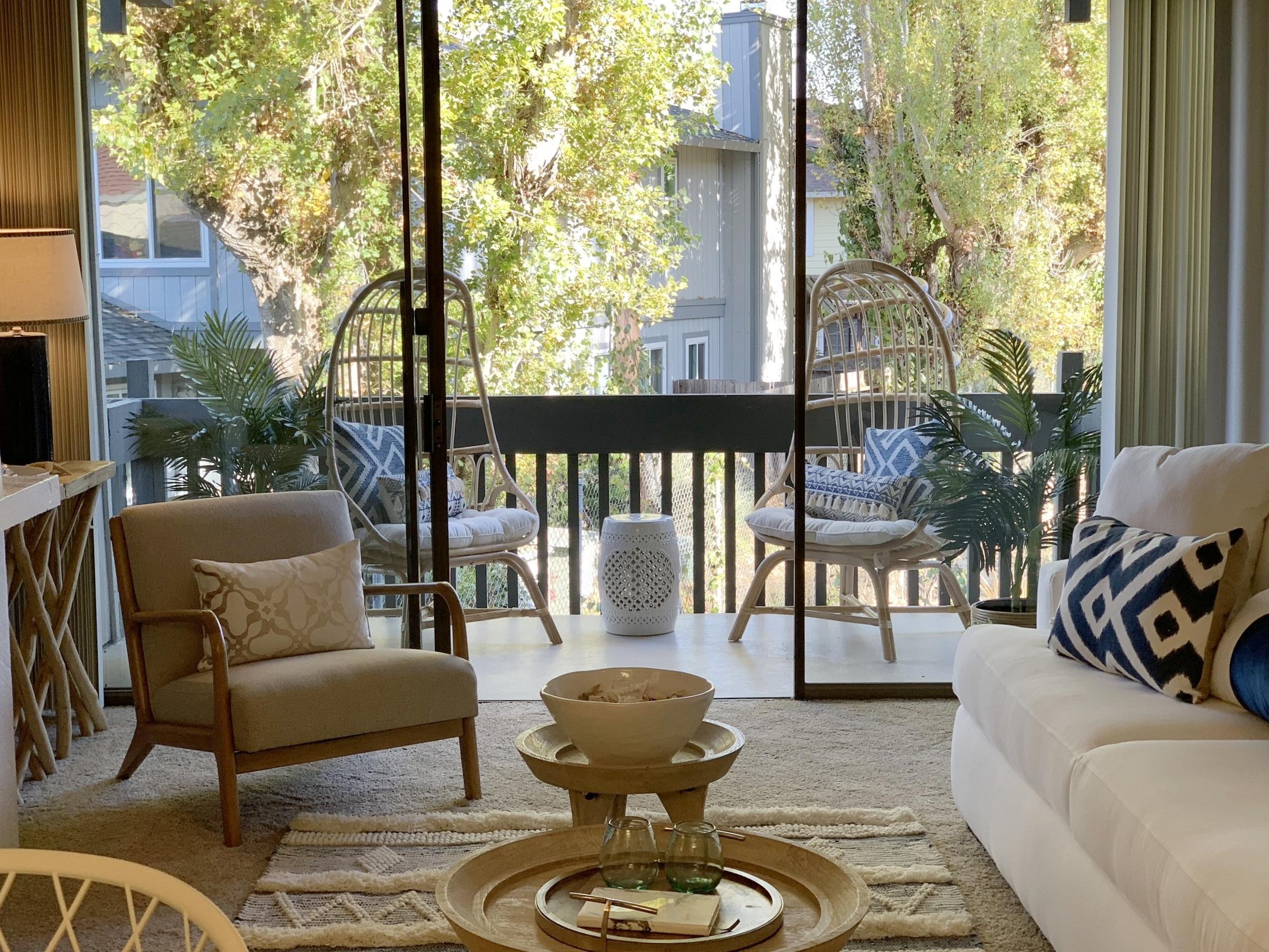Bright, spacious living areas