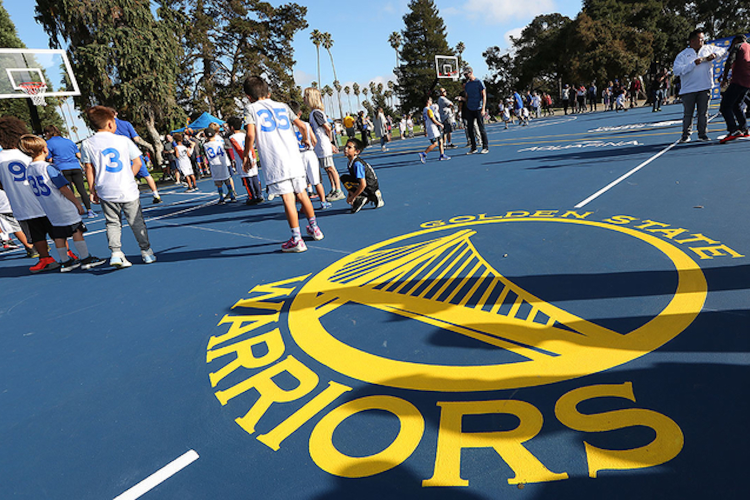 The Warriors Sponsored our Local Basketball Courts