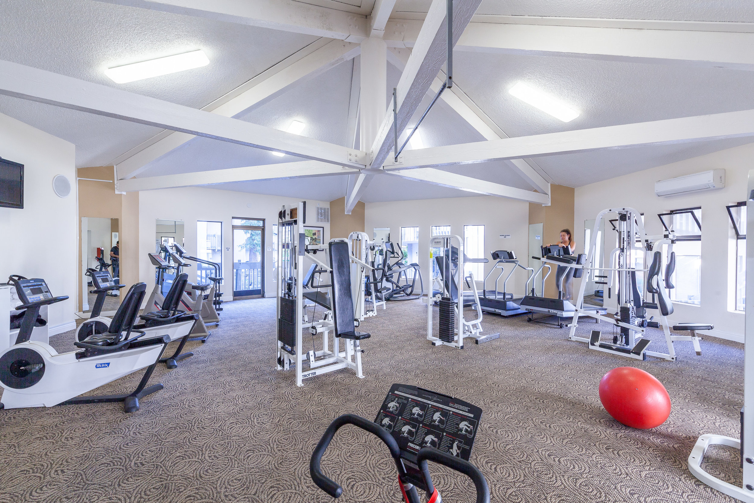 Expansive fitness center