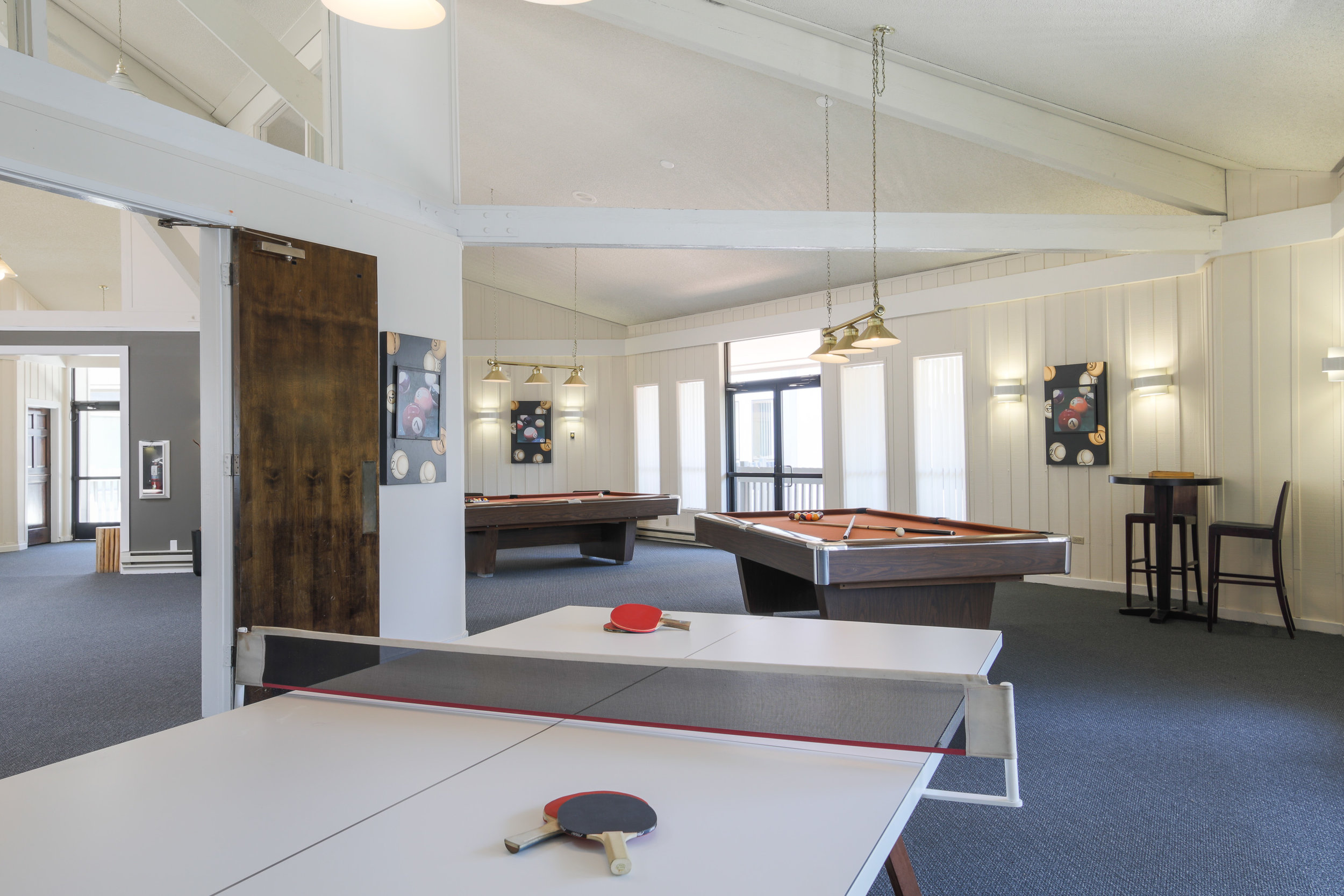 Family friendly clubhouse, with game rooms