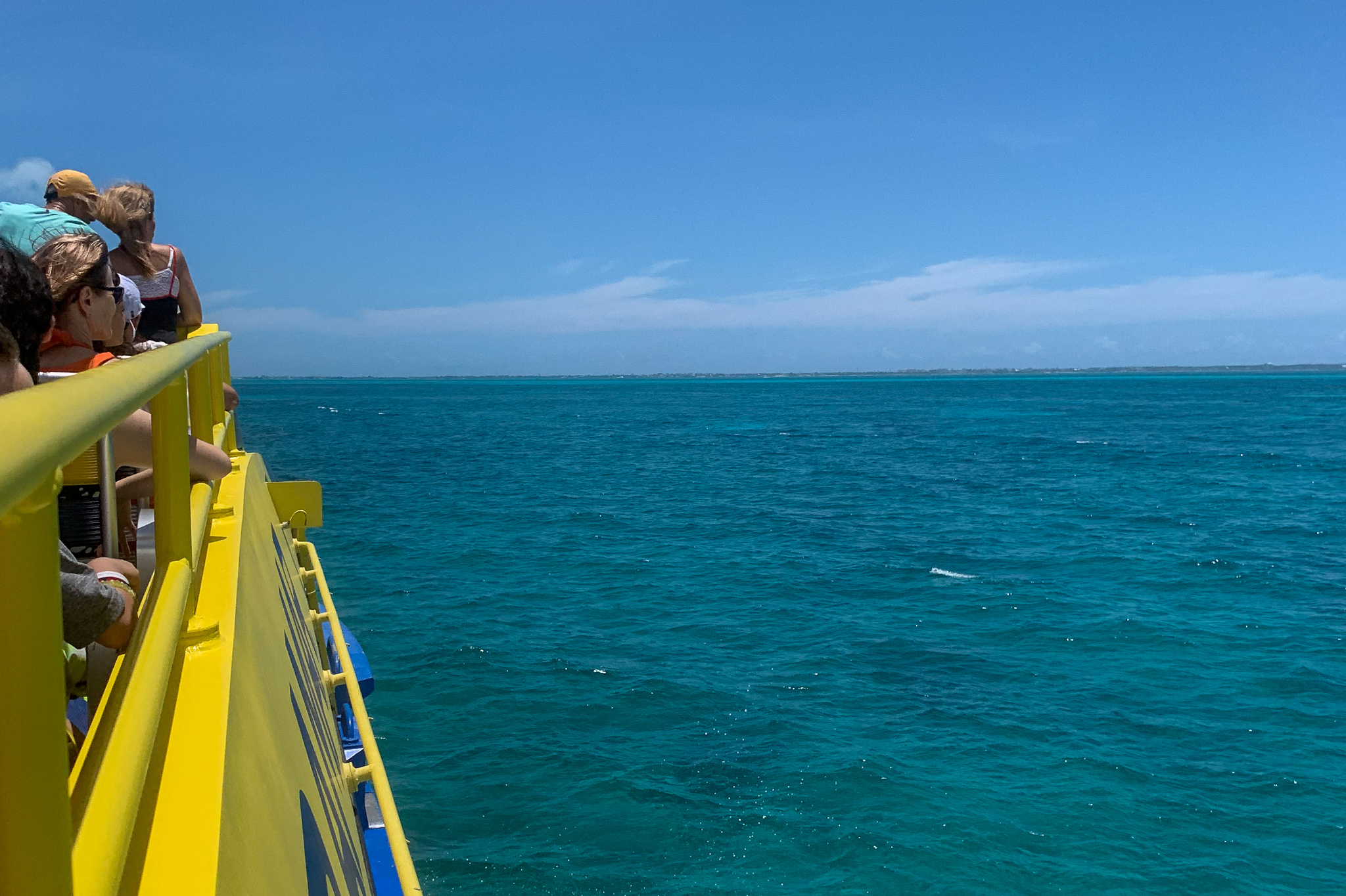 The water between Cancun and Isla Mujeres is some of the prettiest on the planet.