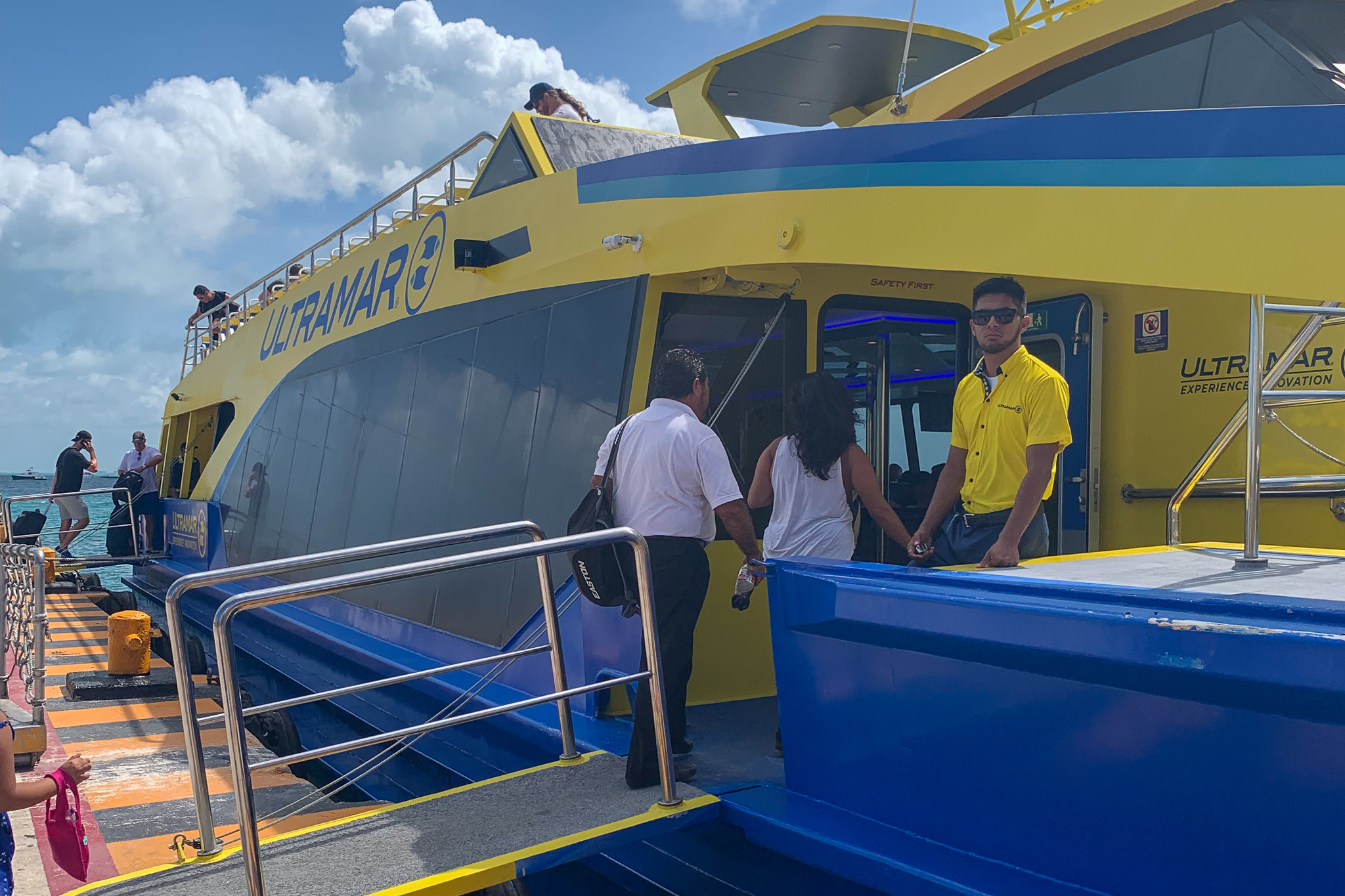 The ferry ride from Cancun is cheap, short, and convenient.