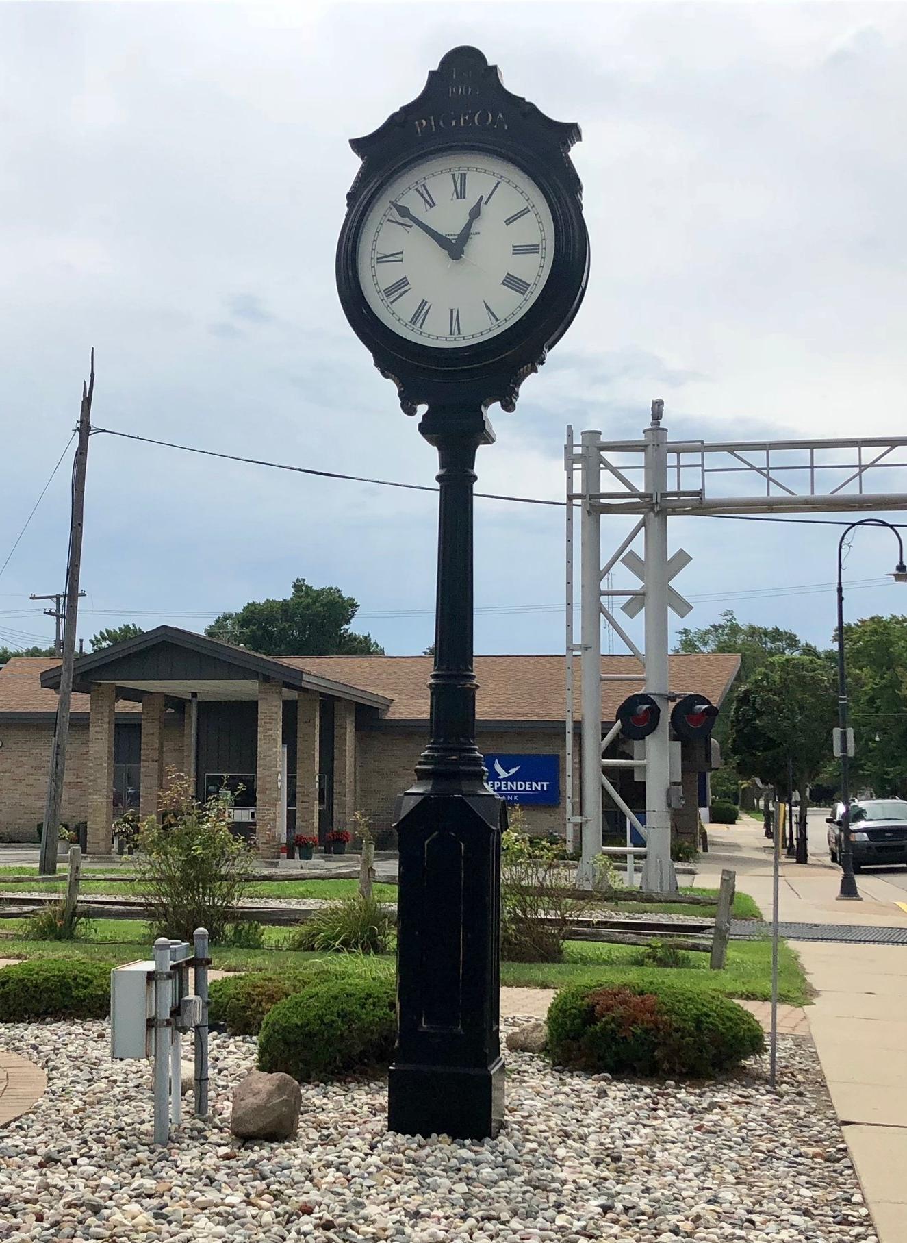 Village of Pigeon Clock
