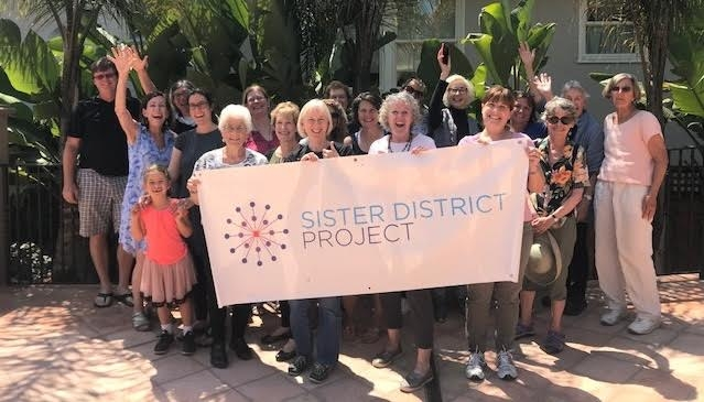 22 Sister District CA Peninsula phone bankers after our August 12 phone bank for Claudette Williams PA176 and Winnie Brinks MI29
