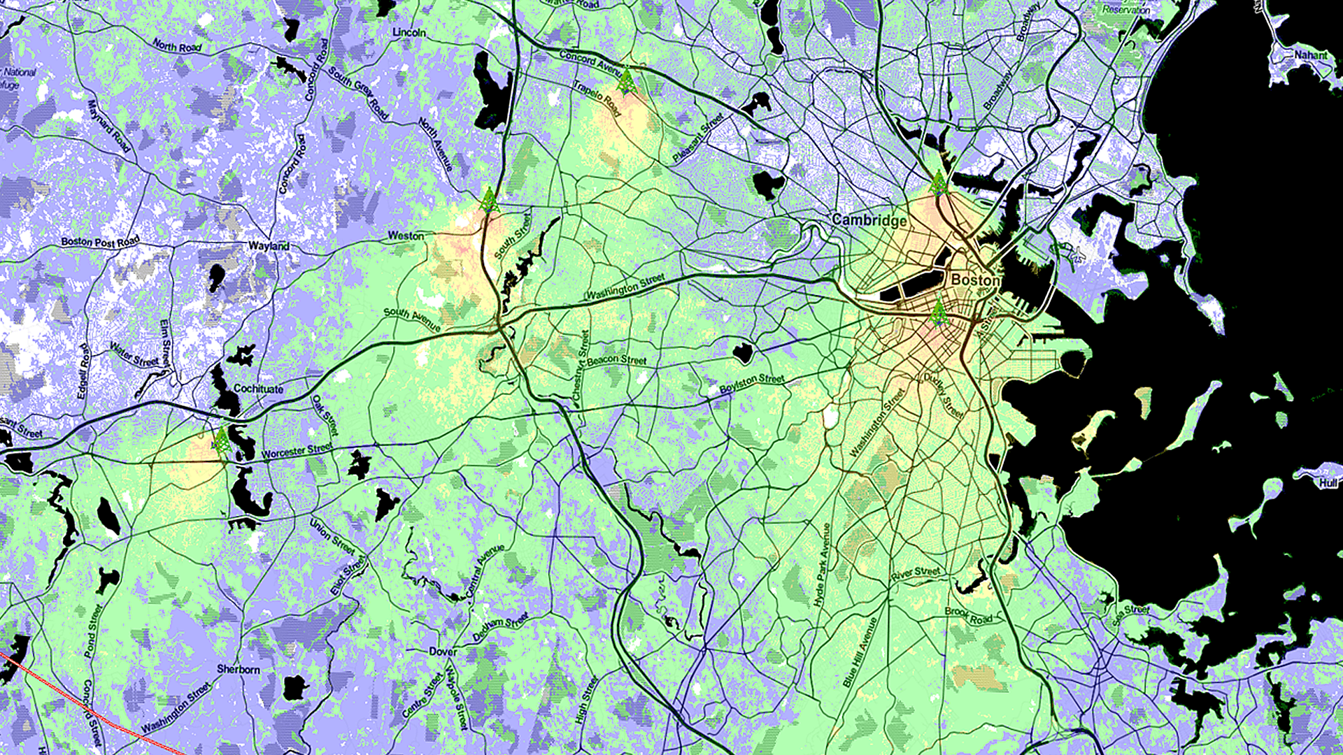 Boston Deployment AFTER | Notice the difference in the signal area