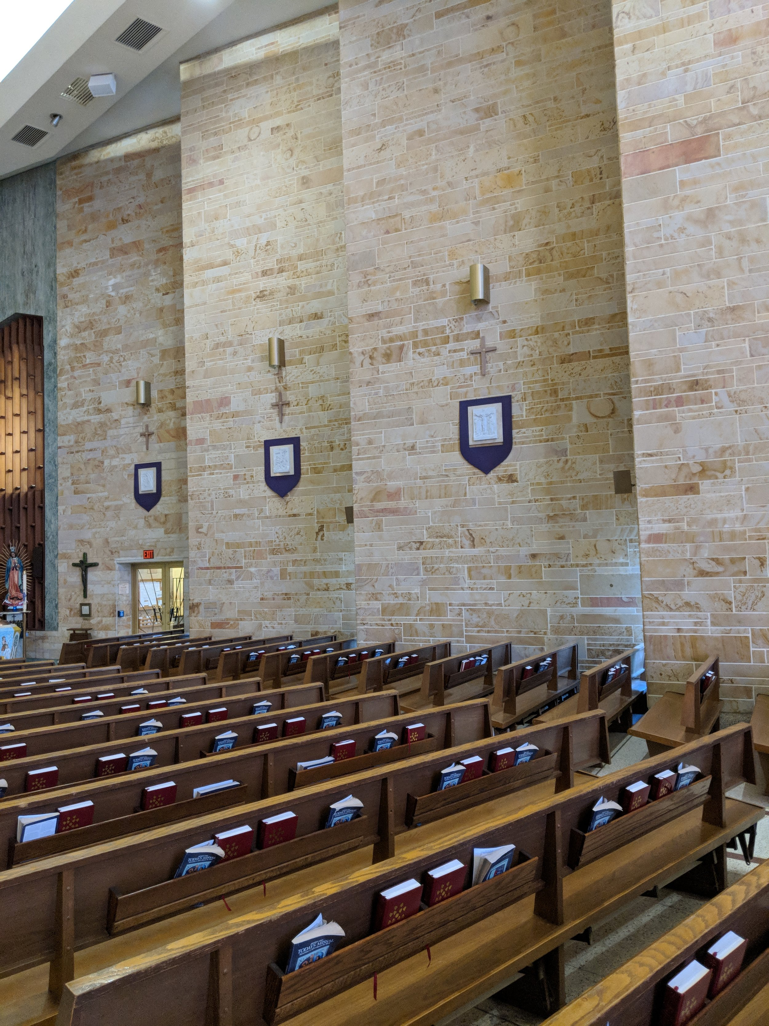 CAMM DT-200 speakers line the Nave walls to provide complete coverage in all seating areas.