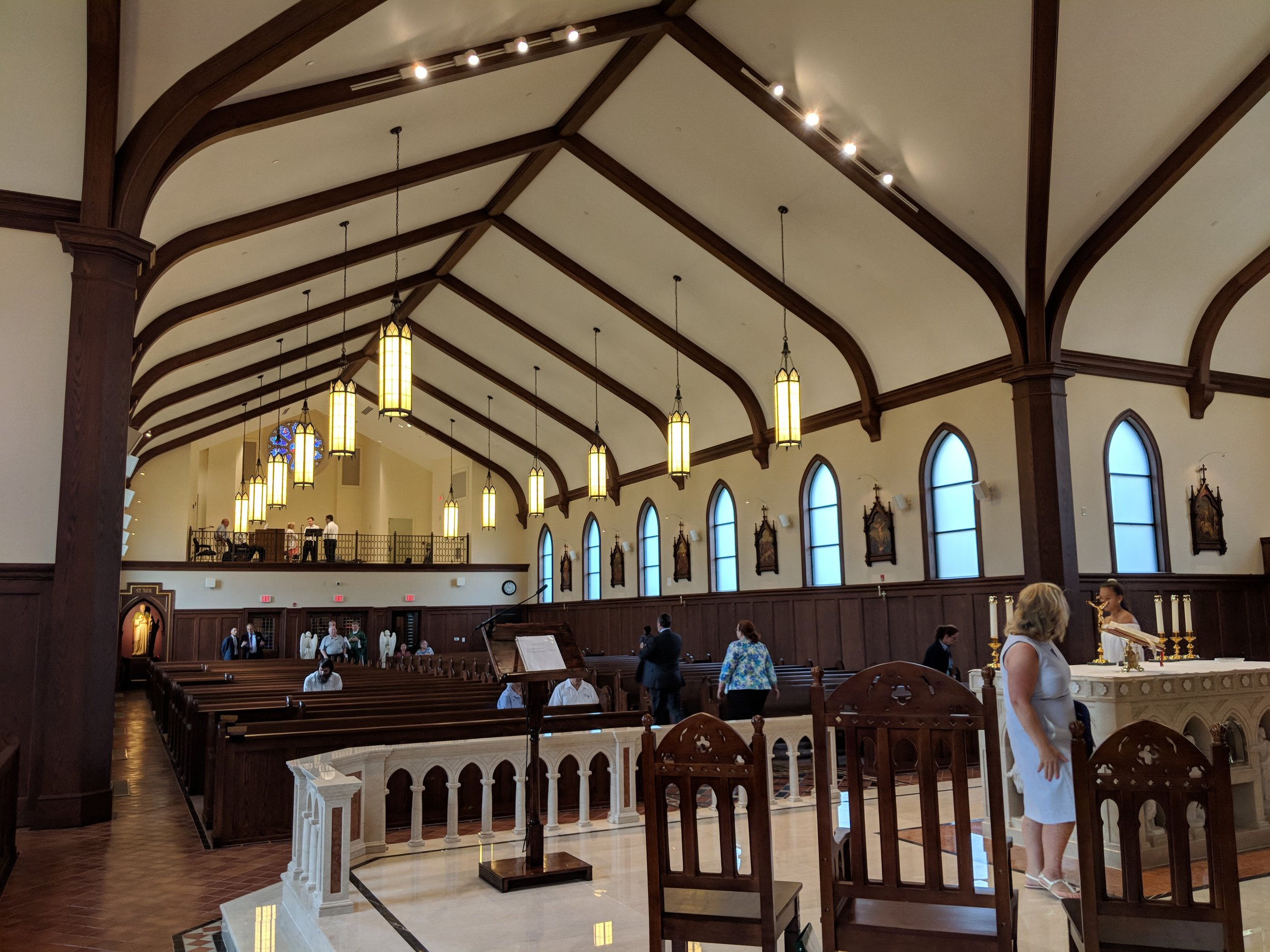 The newly constructed St. Jude Church in Fredericksburg, VA.