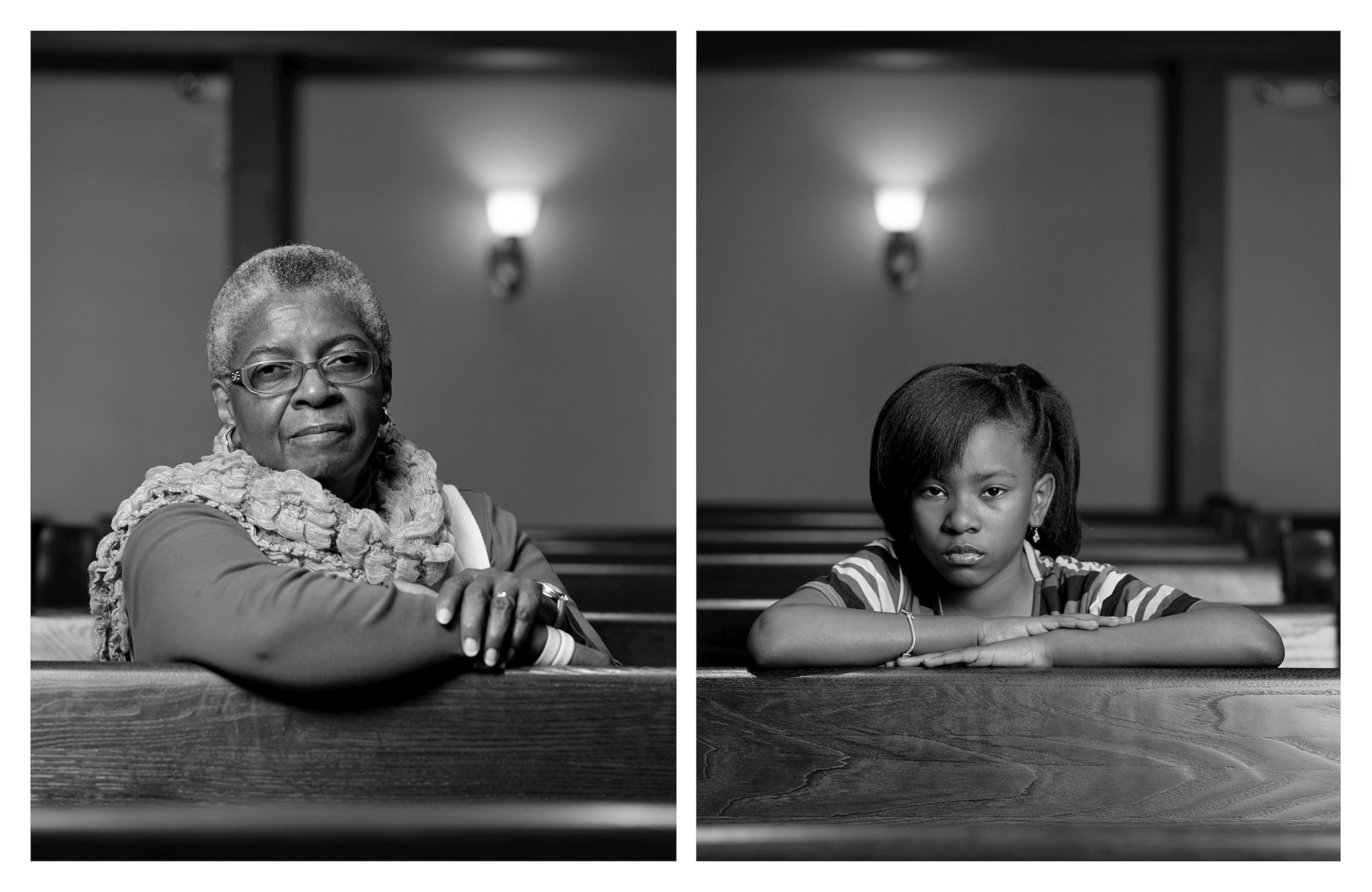 Mary Parker and Caela Cowan, 2012 Archival pigment prints mounted on dibond  40 x 64 inches (two separate 40 x 32 inch photographs) Edition of 6 + 2 APs Copyright © Dawoud Bey