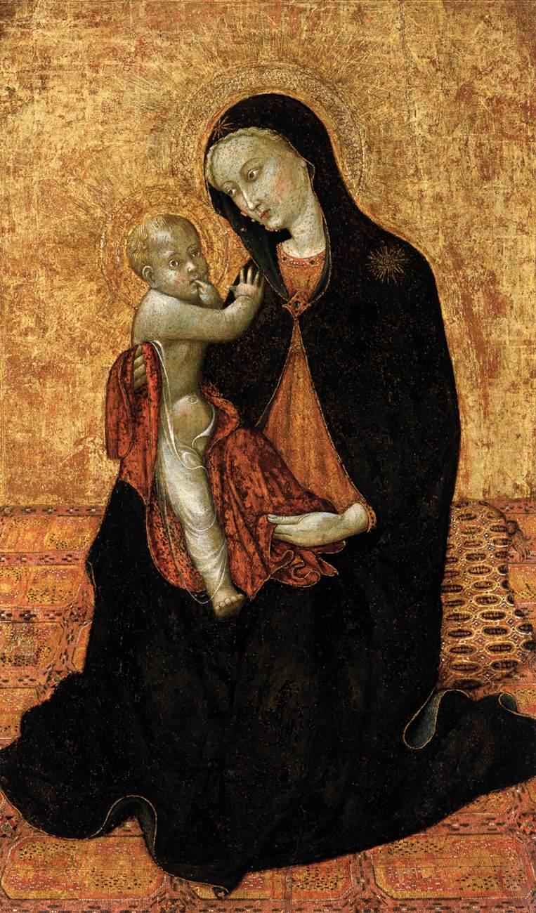 Sassetta, Virgin of Humility 1440s Panel, 79 x 46 cm Collezione Vittorio Cini, Venice