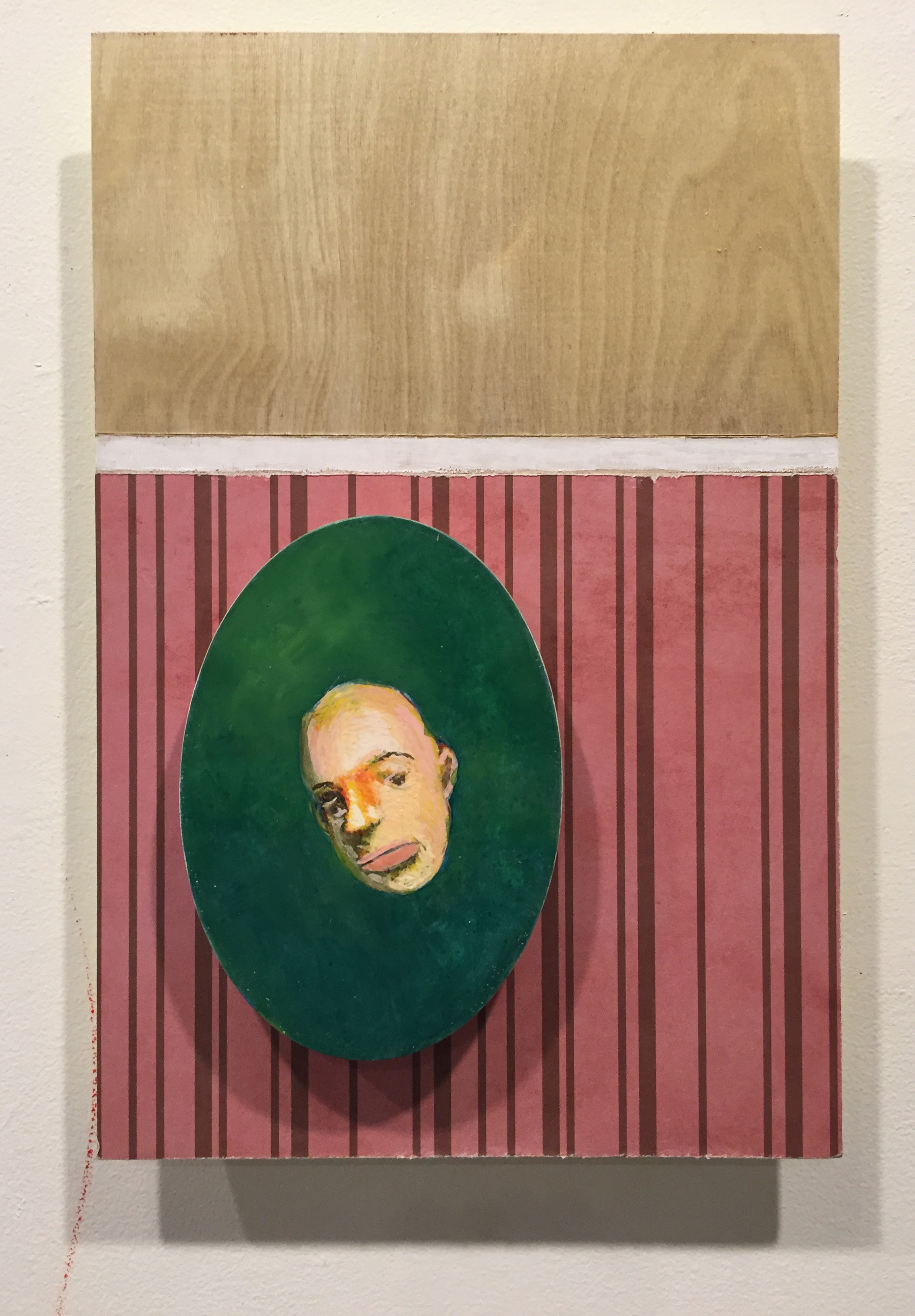 monument #10, egg tempera, oil, and collage on wood with acryli