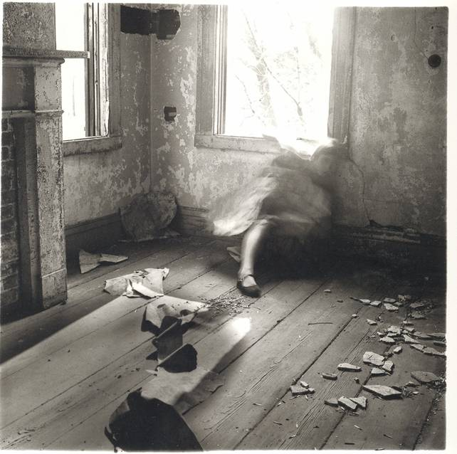 Francesca Woodman:  House #3 , Providence, Rhode Island, 1976 from  here .