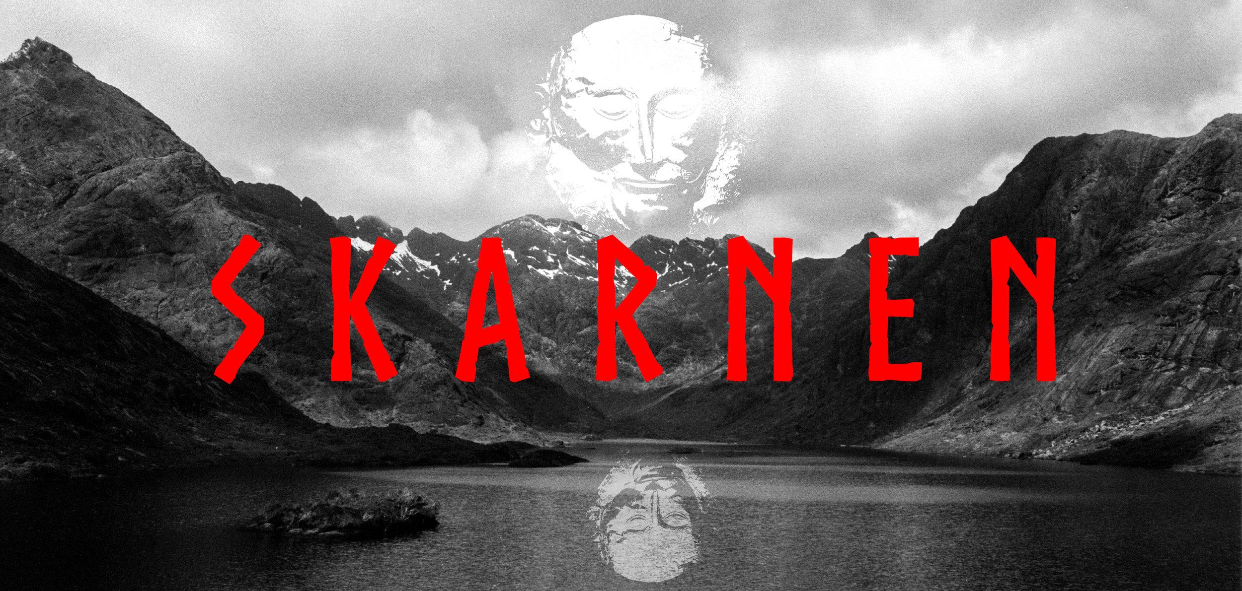 Banner I made for the press release of 'Skarnen'.