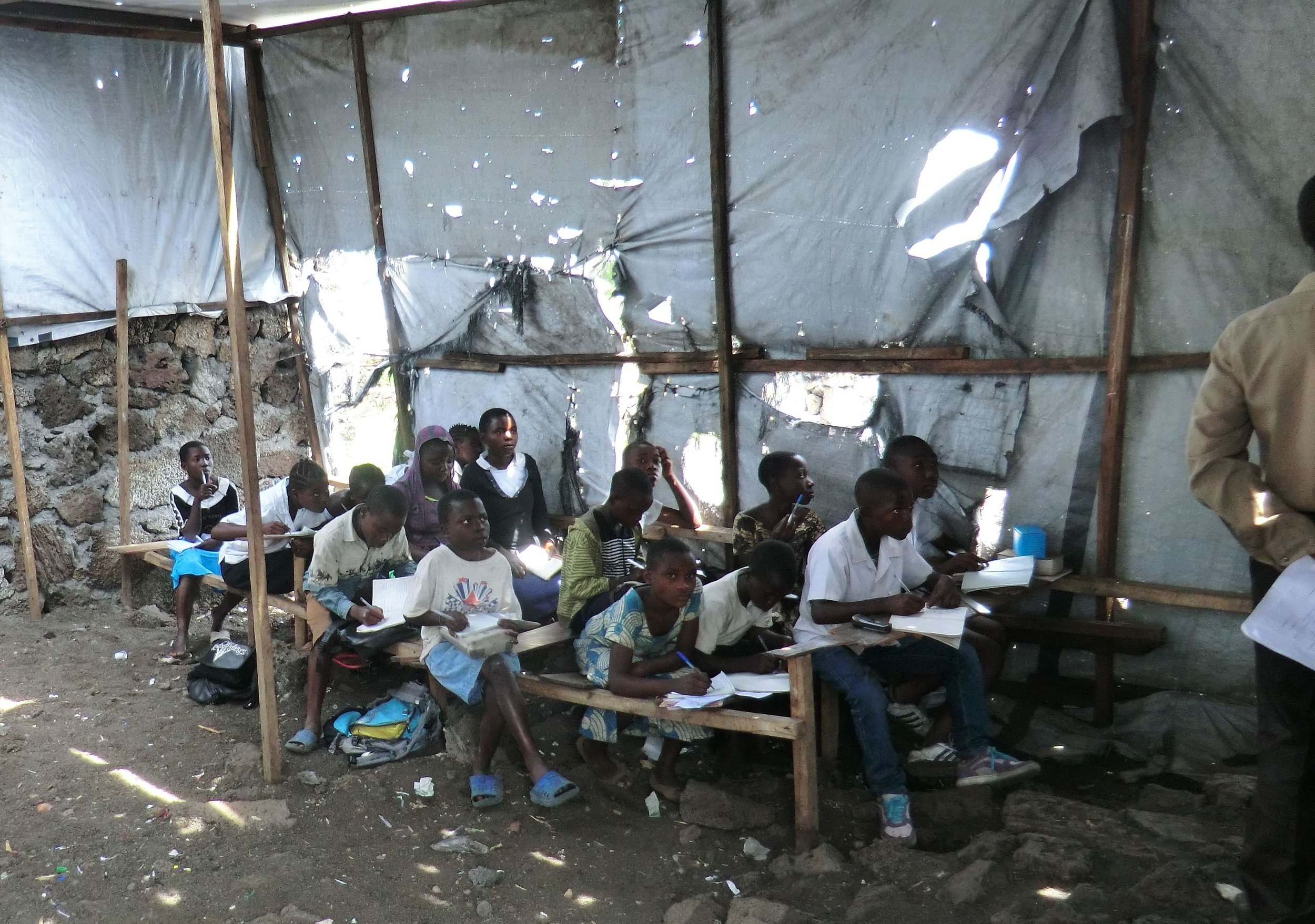 We helped this orphan school in the Congo (DRC)