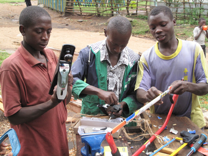 We purchased tools for this Orphan Carpenters Workshop in Kyarumba, Uganda